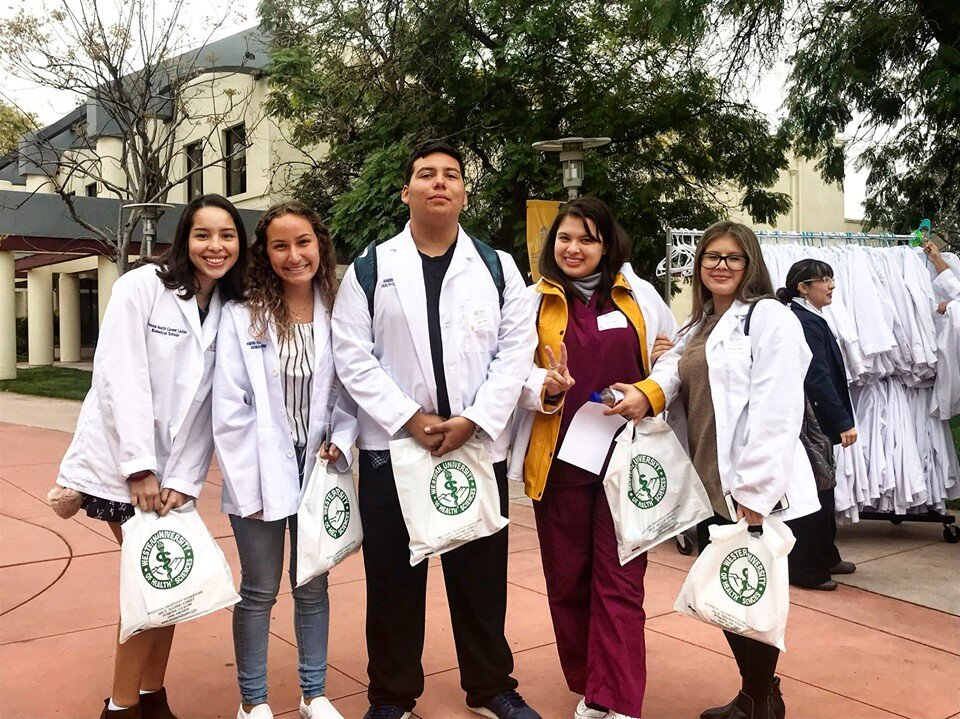 Students attend the 2019 Health Sciences Day at Western U! Health Sciences day has a seminar style approach and leads students through various workshops.
