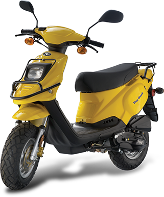 TGB Key West 50 - One of the best selling TGB models, comes with sleek but rugged design. Its powerful 2-stroke engine guarantees nimble maneuverability and unbelievable riding comfort as well as unbeatable fuel economy.