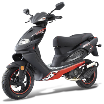 TGB X-RACE 50 - With its race inspired design, the TGB X-Race is your number one choice for a sporty commute.  Its smooth 50cc engine guarantees economical and reliable performance.