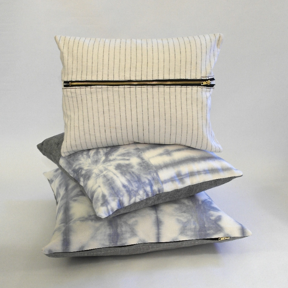3 pillows stacked