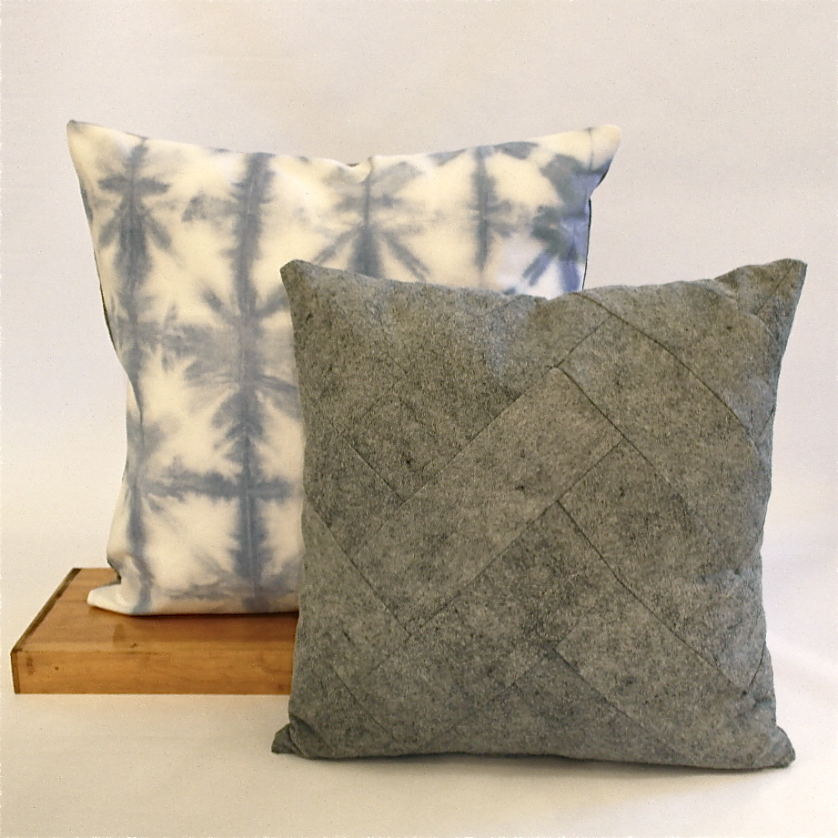 Blue and Grey pillows