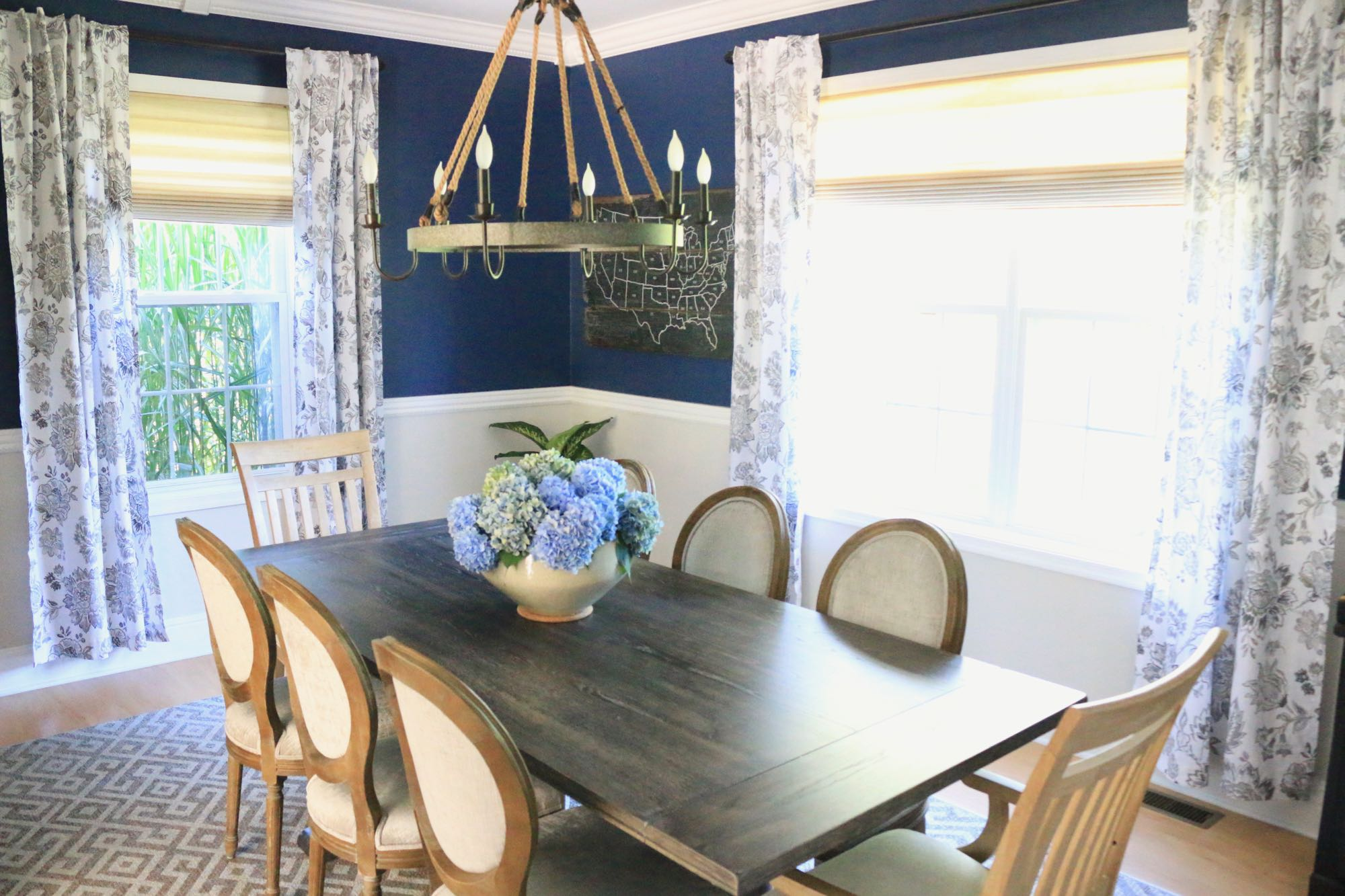 Transitional Dining Room Map