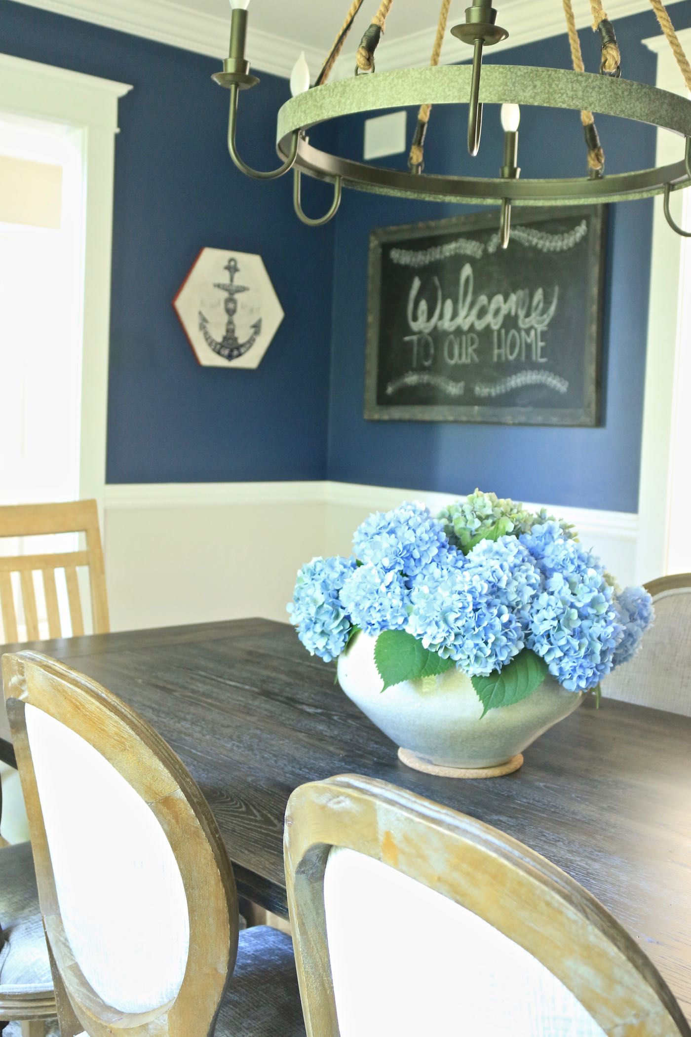 Transitional Dining Room Welcome