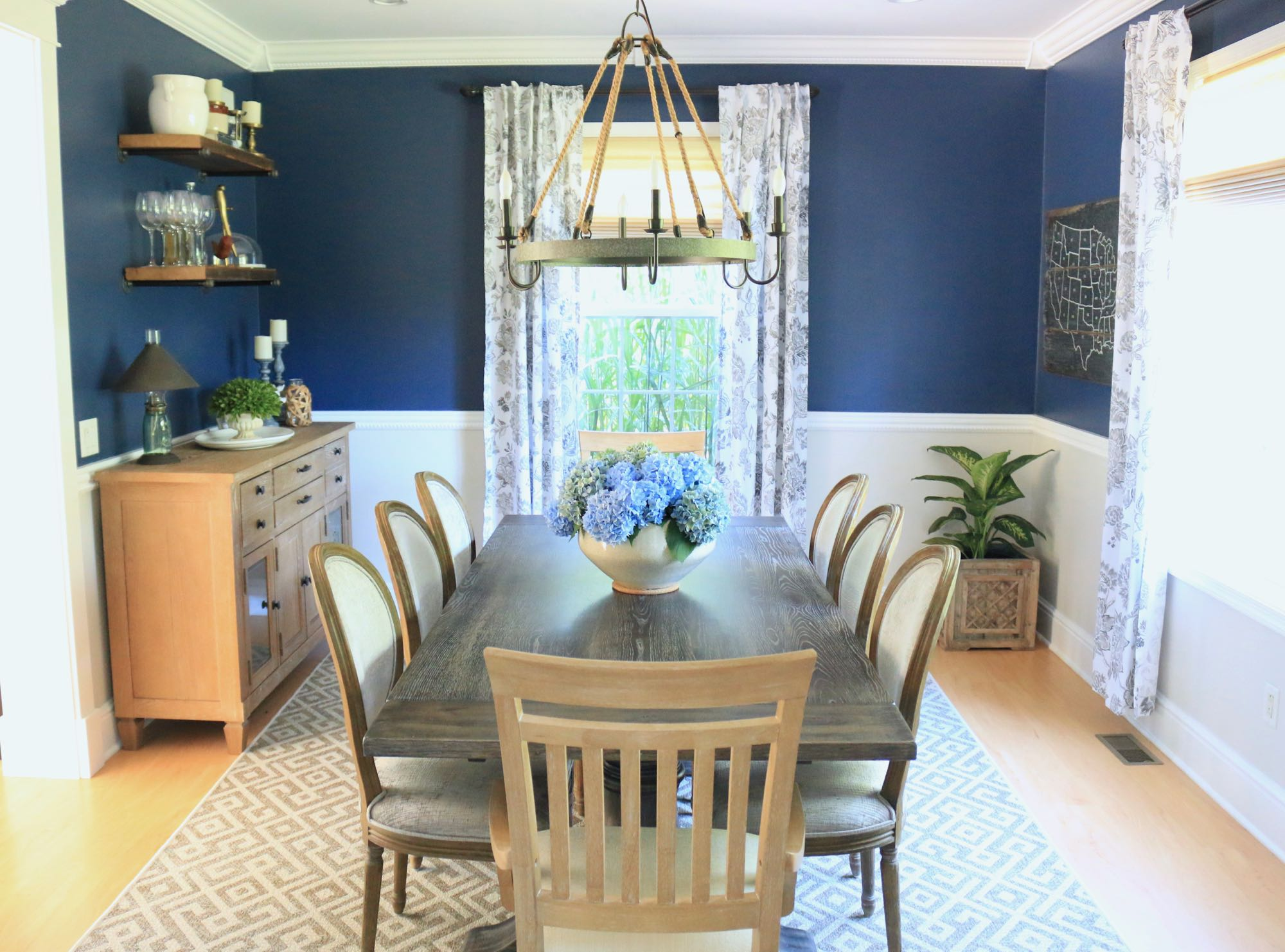 Transitional Farmhouse Dining Room