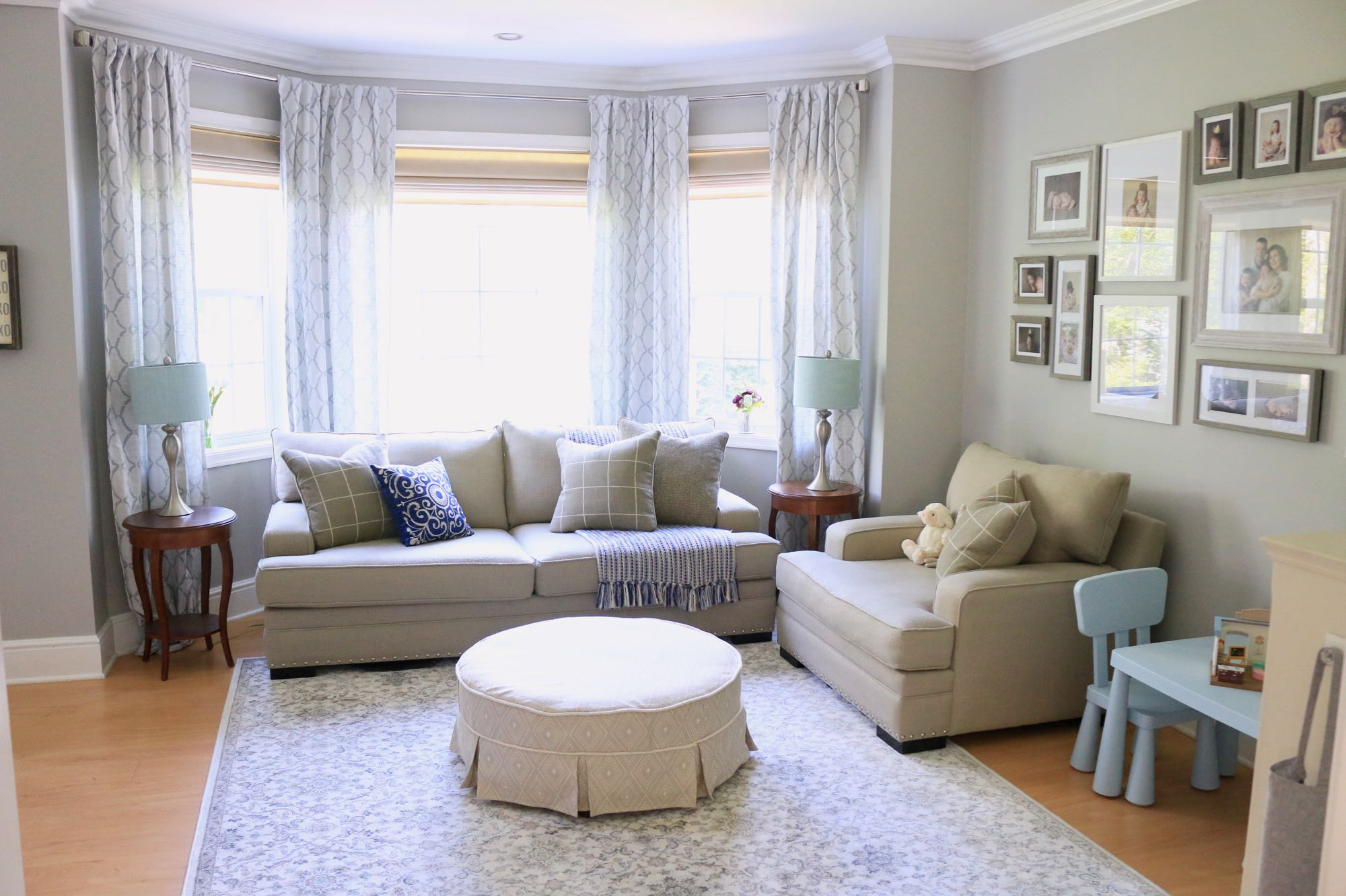 Traditional Play Room Seating Area