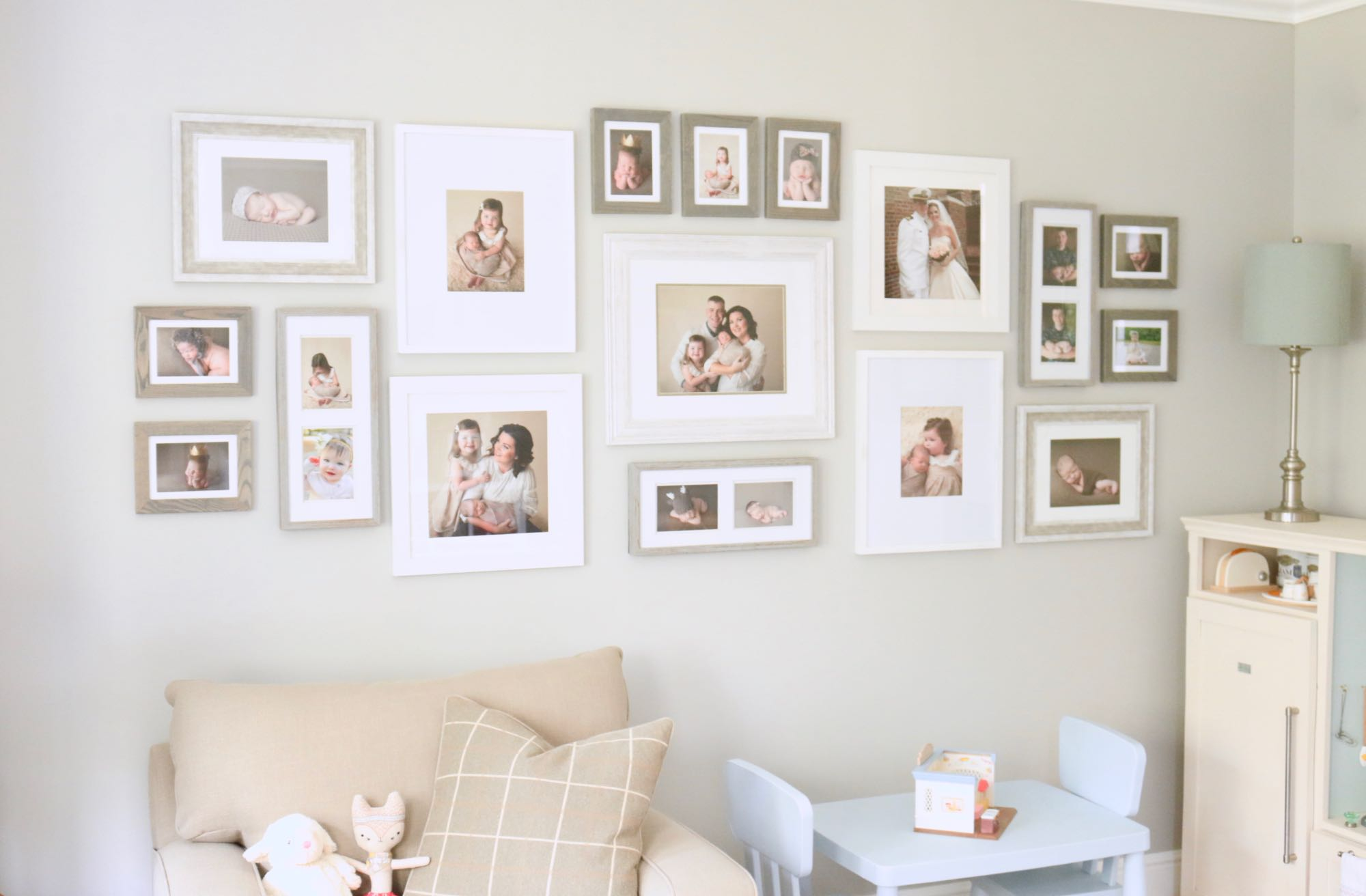 Traditional Play Room Family Gallery Wall