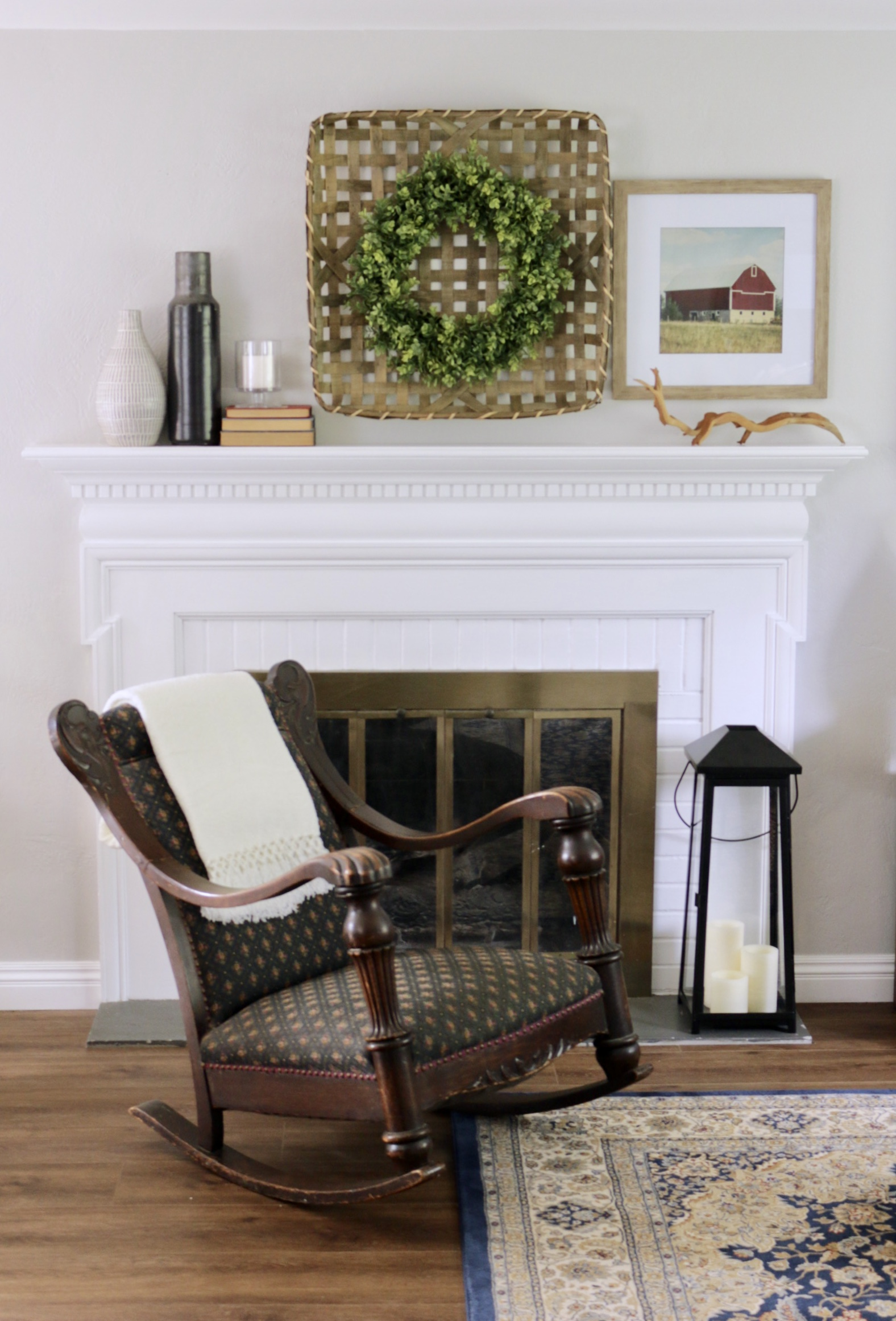Traditional Farmhouse Fireplace