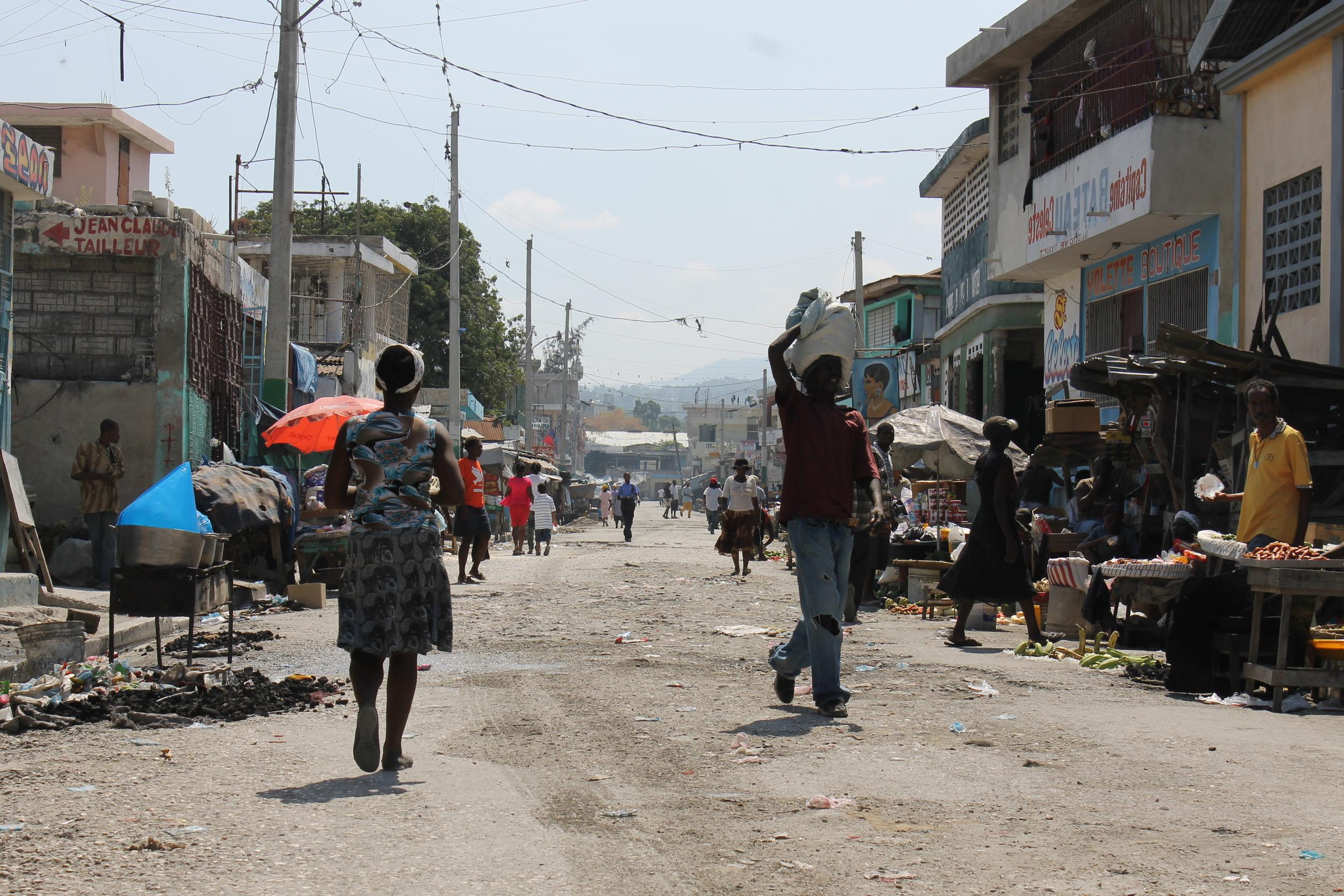 Bakery street in Haiti