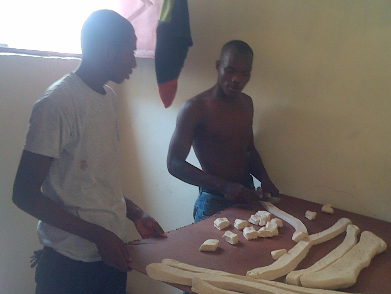Cutting dough Haiti