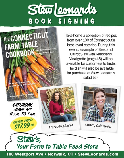 Stew Leonard's CT Farm Table Cookbook Book Signing