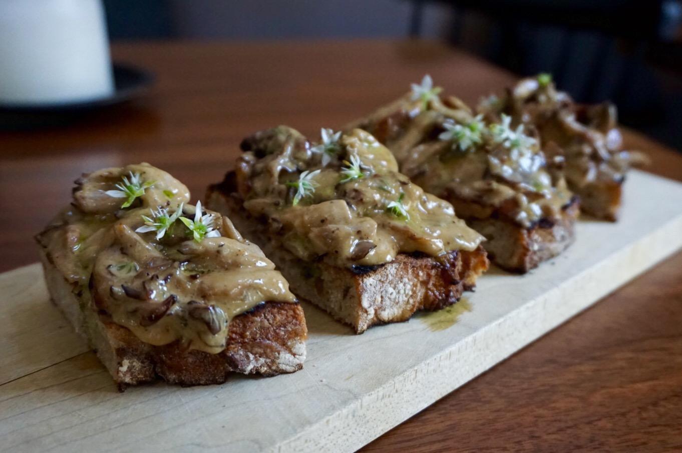 Mushroom Toast Recipe from Chef Marcell Davidsen