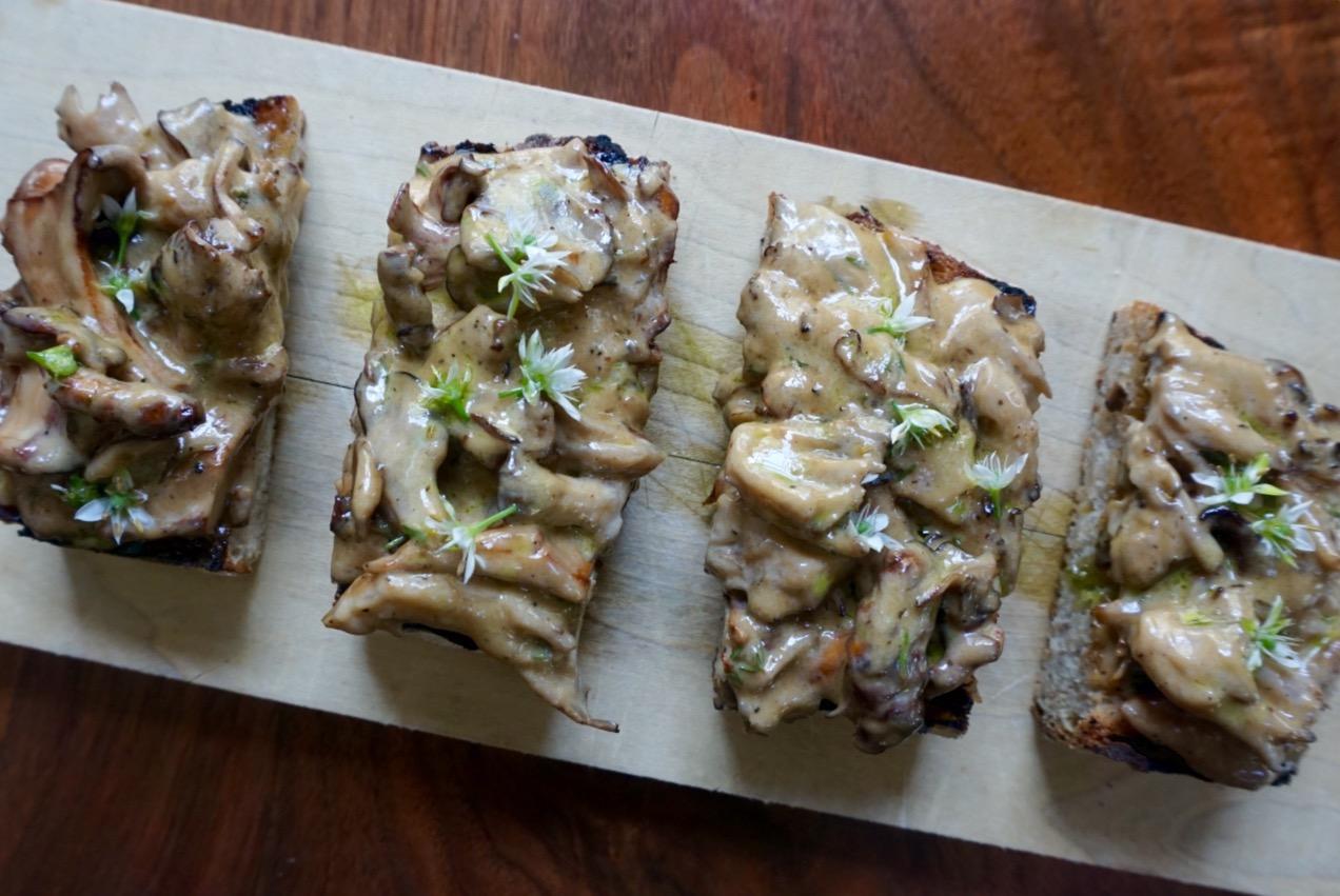 Recipe: Mushroom Toast with Herb Oil