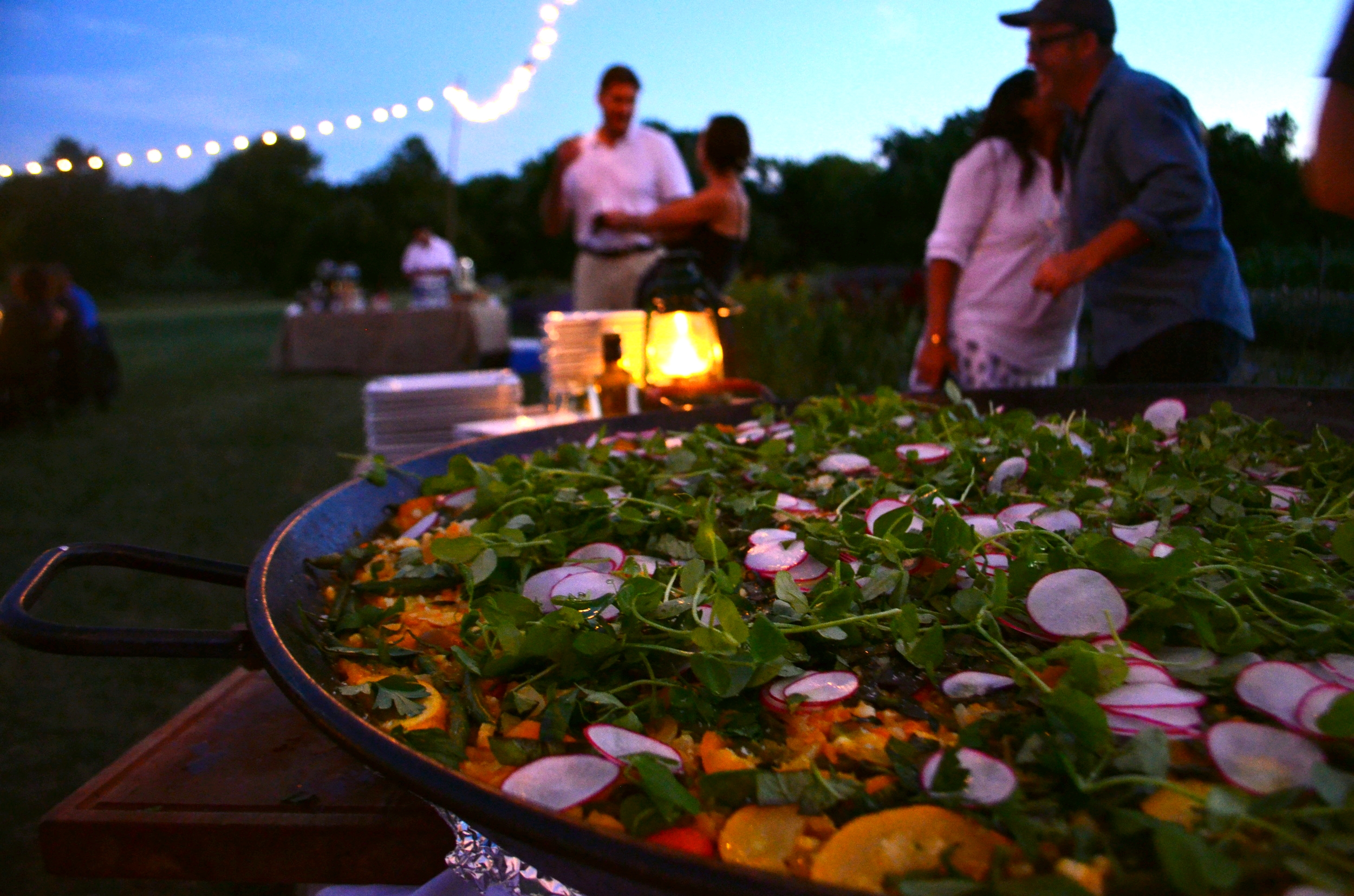 Vegetable Paella at Dinner in the Fields with Barcelona Wine Bar and Eddy Farm