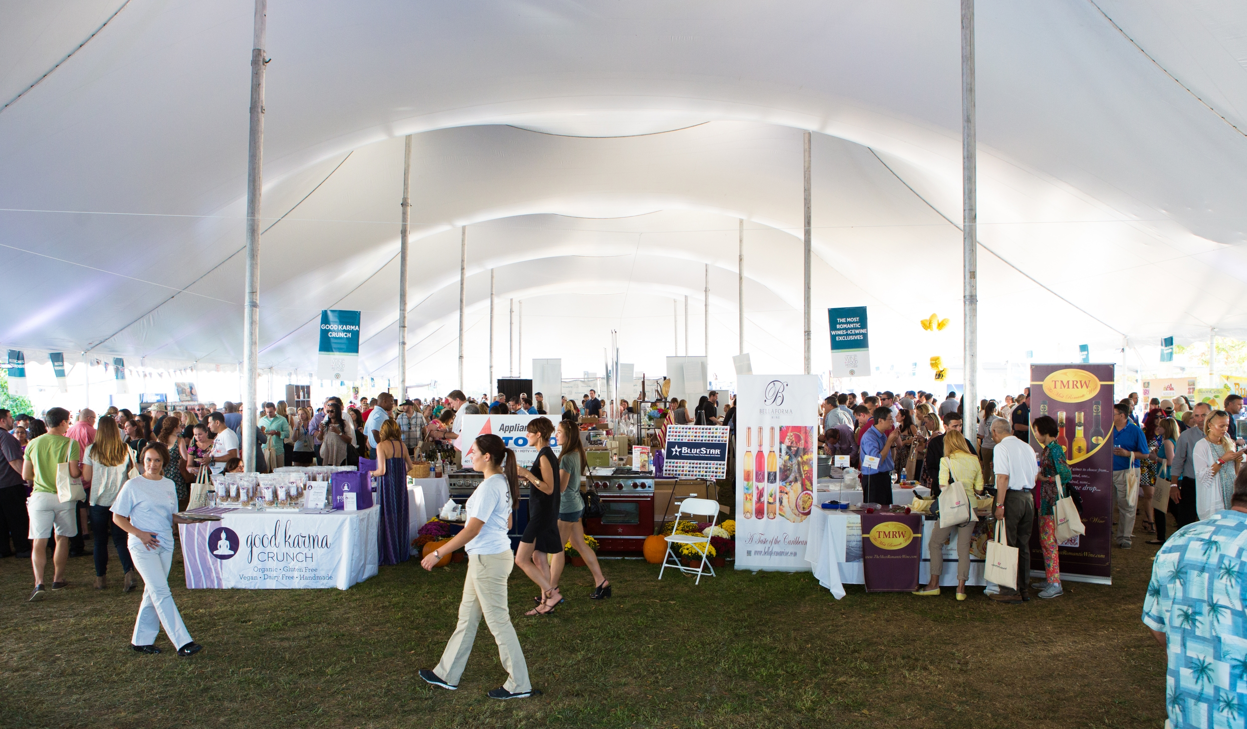 Grand Tasting Tent at the Greenwich Wine and Food Festival