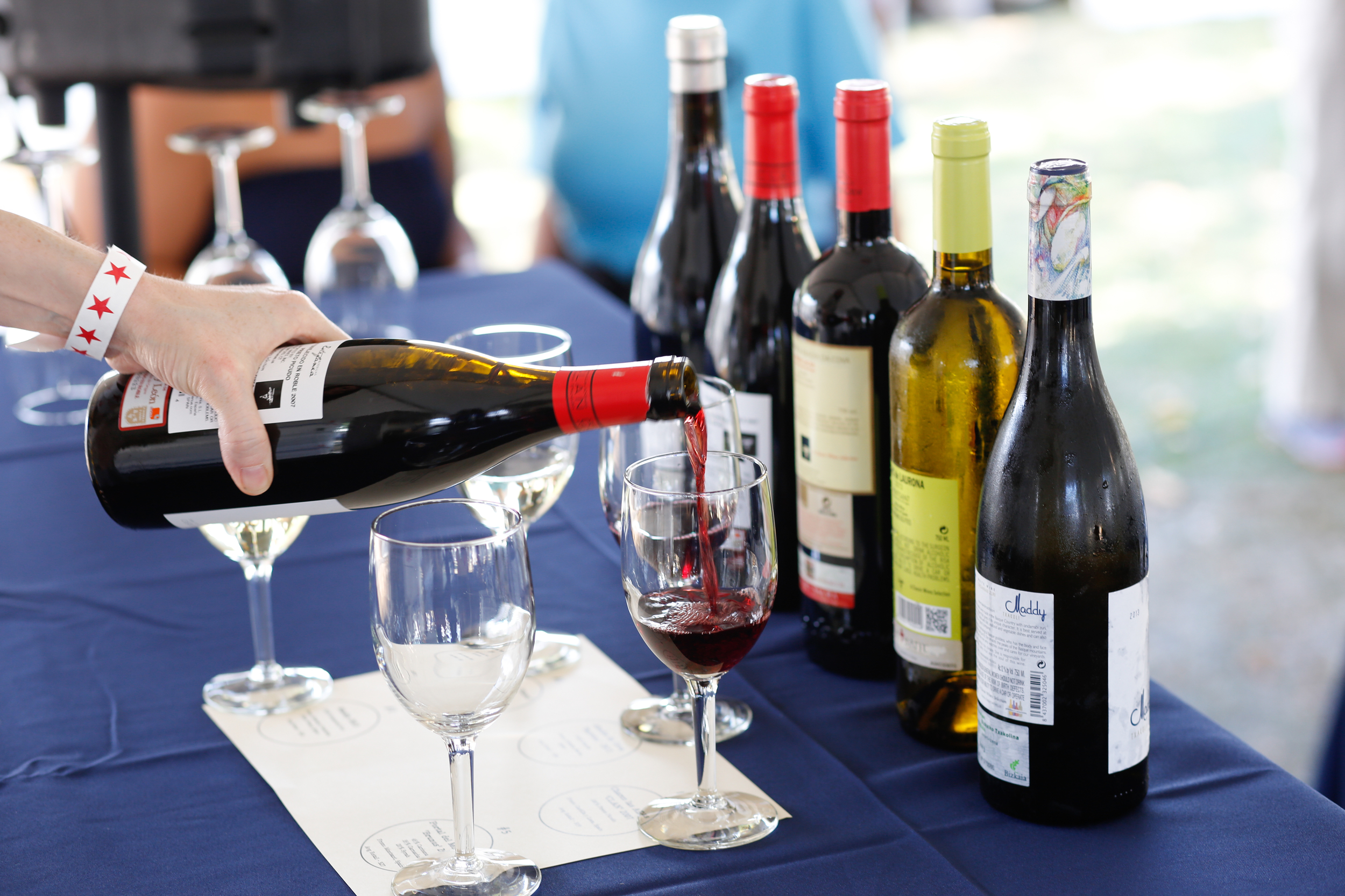 Wine Tasting at the Greenwich Wine and Food Festival.  Enter to win Tickets!