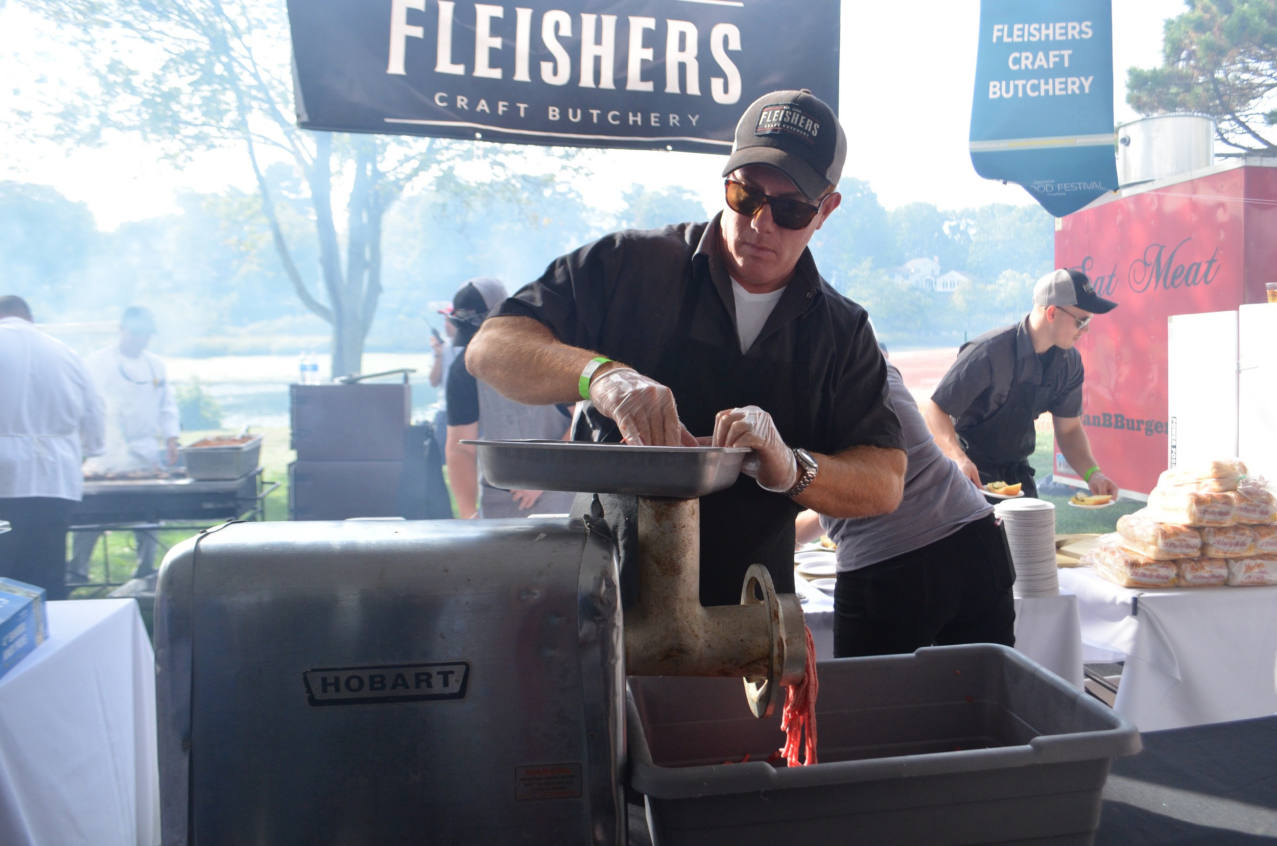 Bravo to  Fleisher's Craft Butchery  for grinding their own meat in the Budweiser and Burgers tent