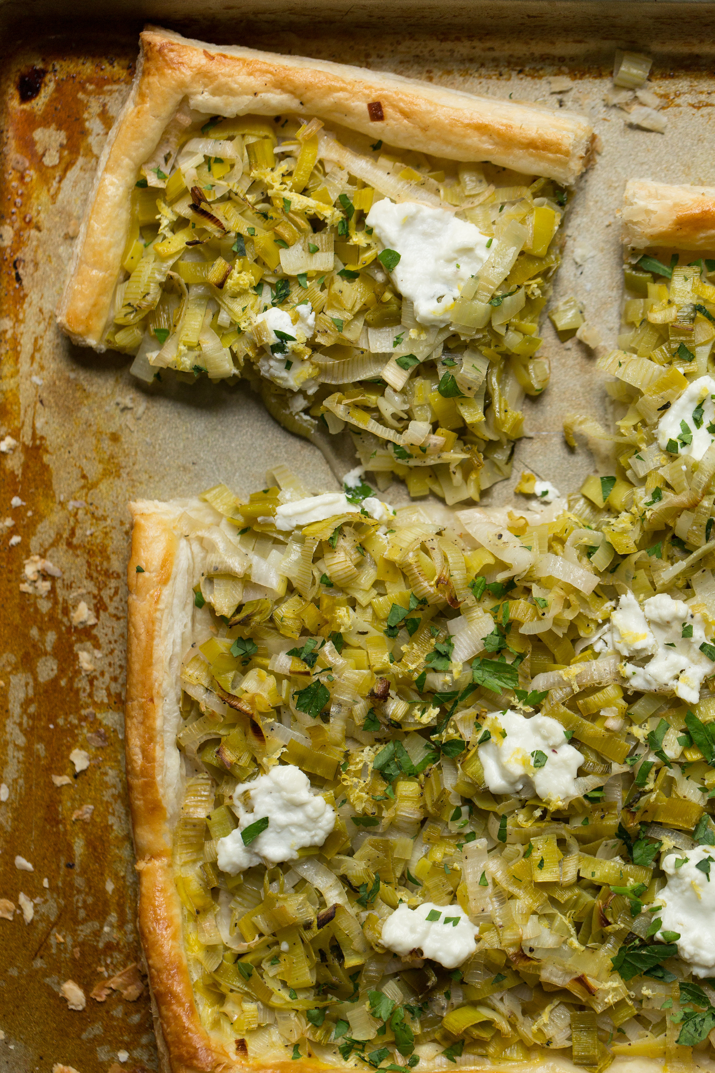 Vegetarian Recipe: Leek and Goat Cheese Tart. Find the recipe on CTEatsOut.com