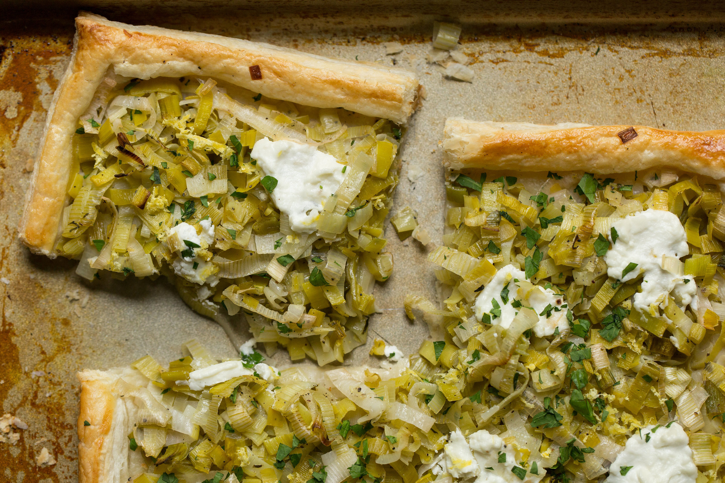 Using farm fresh veggies this vegetarian recipe for a Leek and Goat Cheese tart is great for picnics and potlucks. Find the recipe on CTEatsOut.com