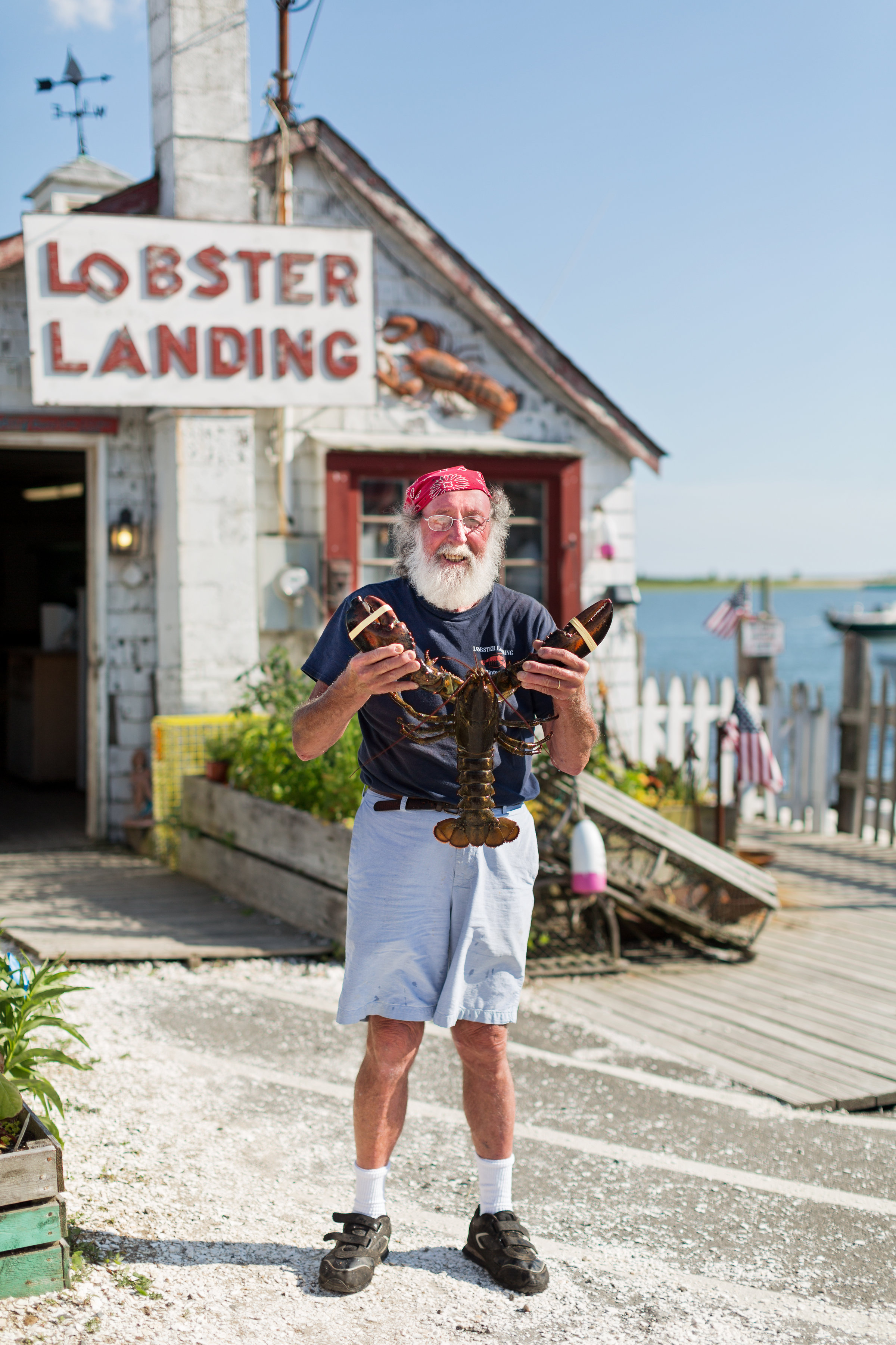 Enea Bacci, lobsterman and owner of Lobster Landing. Lobster Landing makes one of the best lobster rolls in Connecticut   CTEatsOut.com