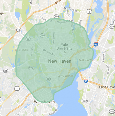 UberEats New Haven Delivery Area