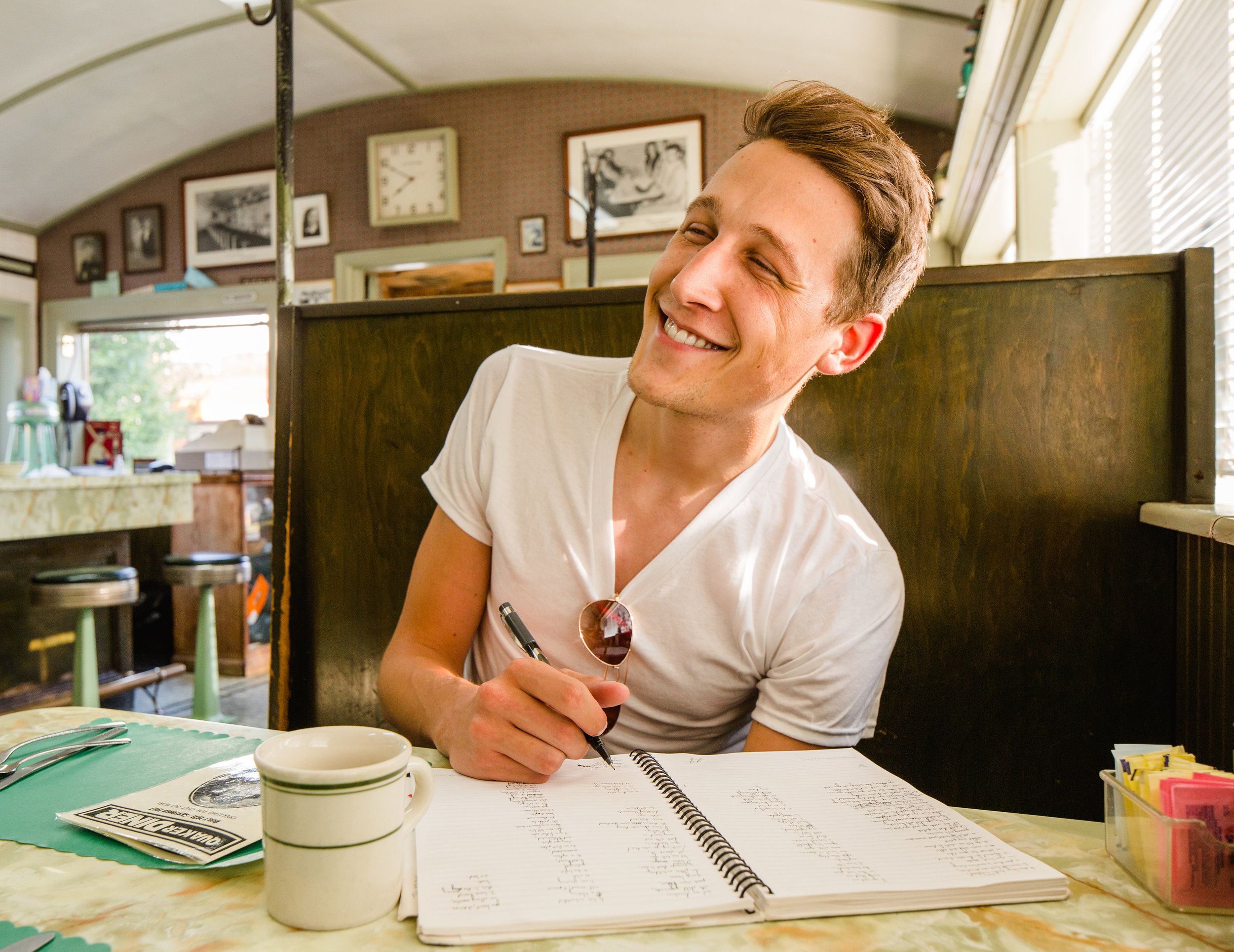 Hartford poet writes a book in Connecticut diners