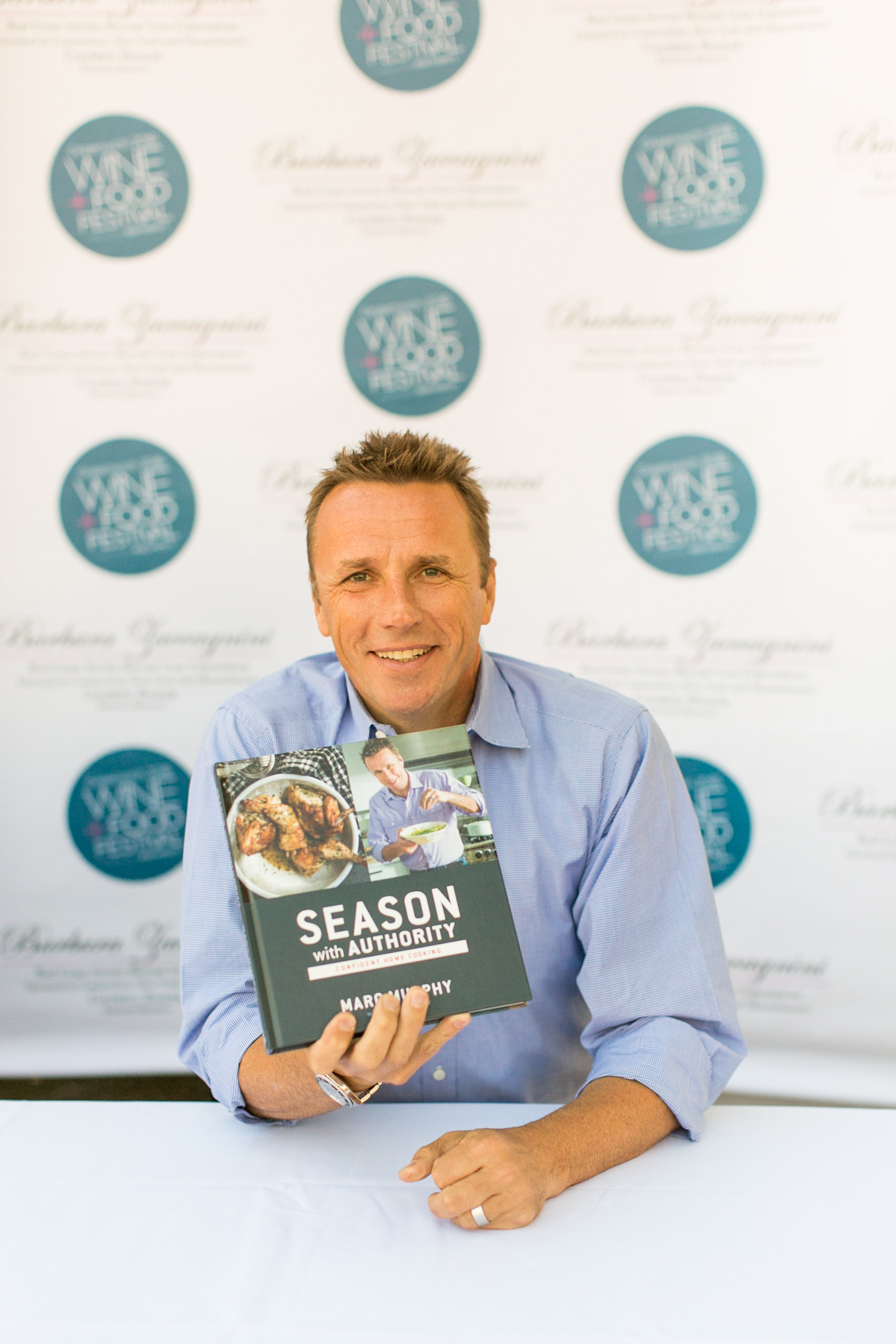 Marc Murphy and his new book Season With Authority at the Greenwich Wine and Food Festival 2016 | CTEatsOut.com