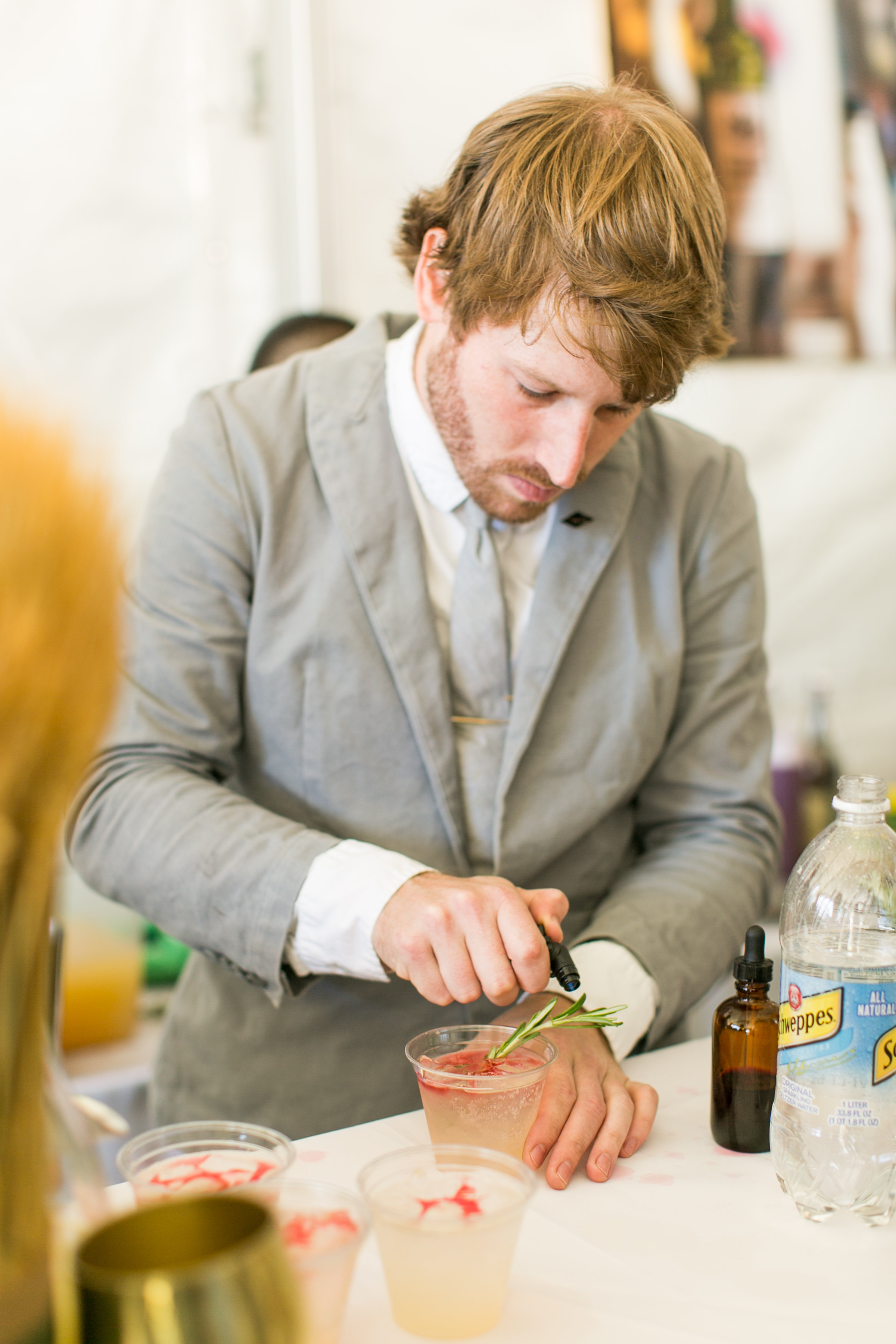 Bartender from The National Greenwich at the Greenwich Wine and Food Festival 2016 | CTEatsOut.com