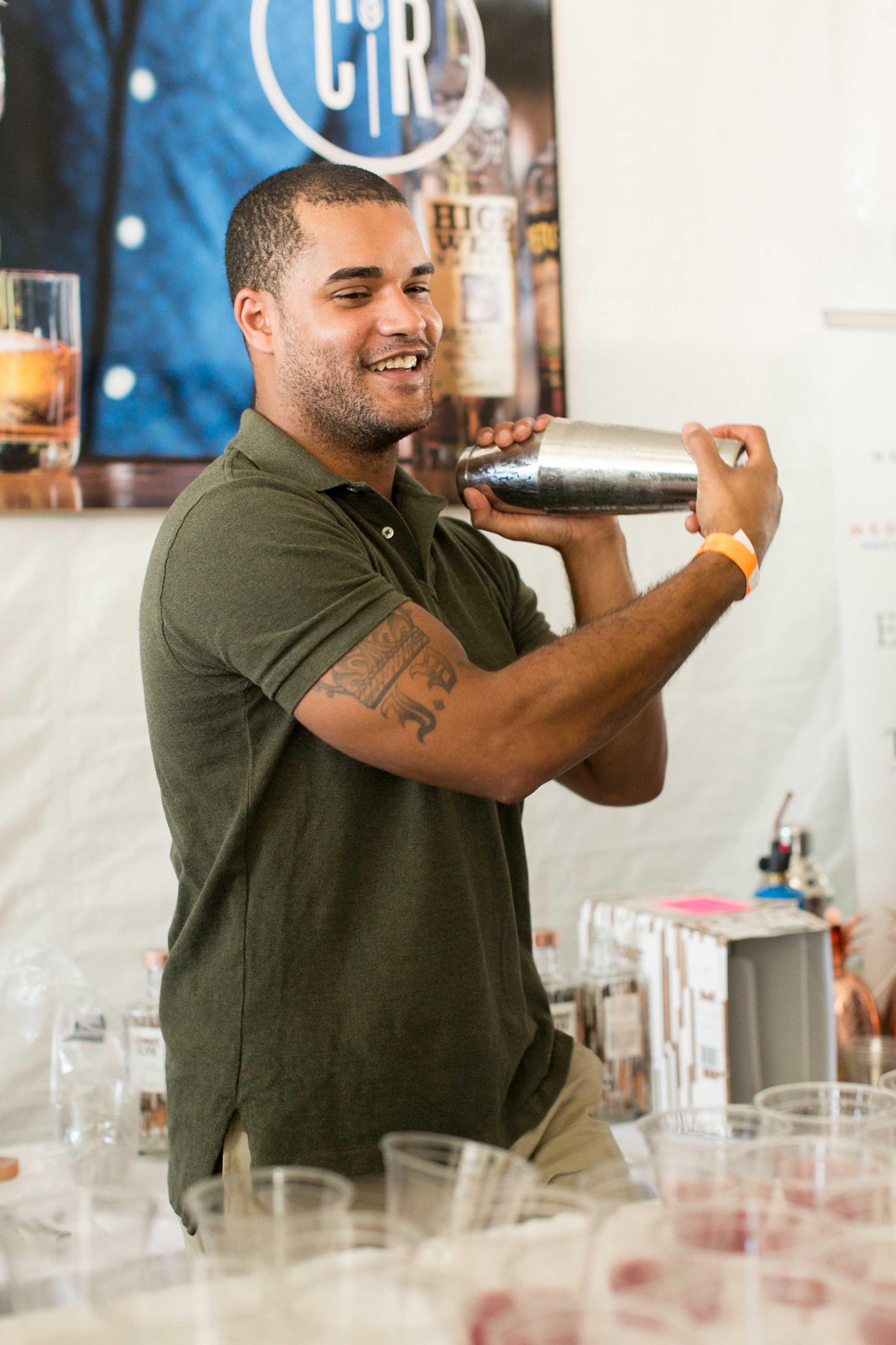 Bartender at the Greenwich Wine and Food Festival 2016 | CTEatsOut.com