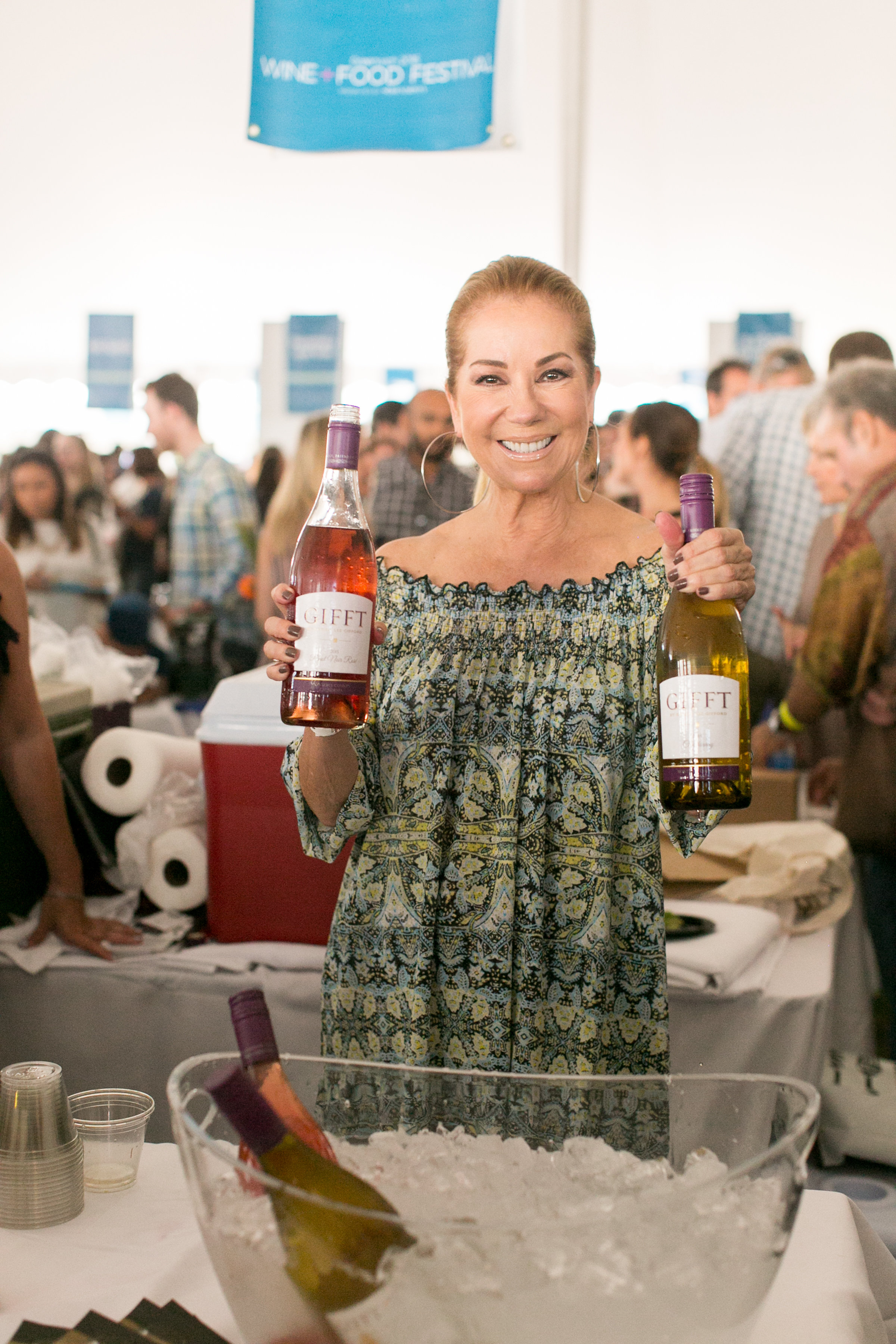 Kathie Lee with her Gifft Wines at the Greenwich Wine and Food Festival 2016 | CTEatsOut.com