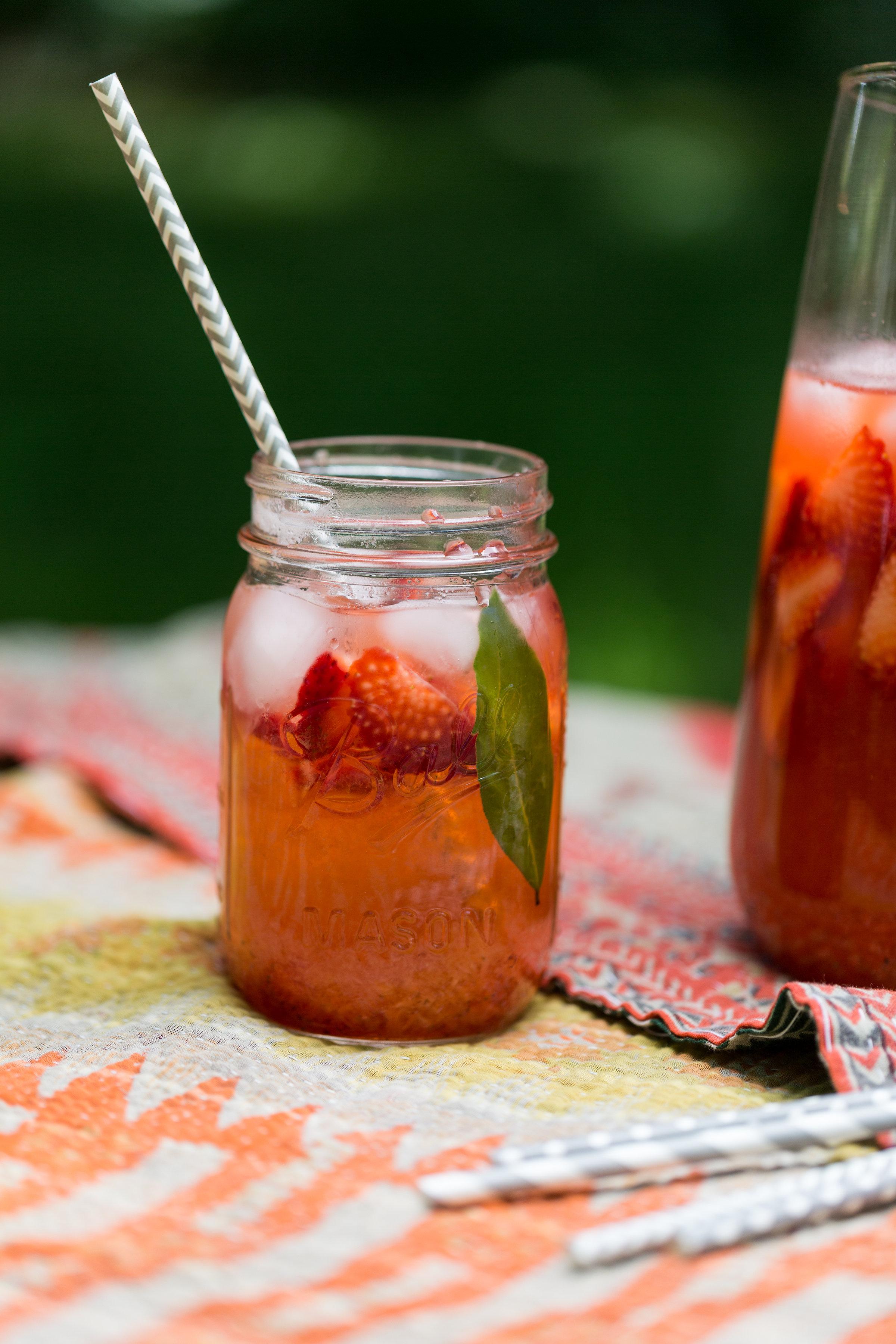 Recipe for Strawberry Rhubarb Black Pepper Lemonade from CTEatsOut.com