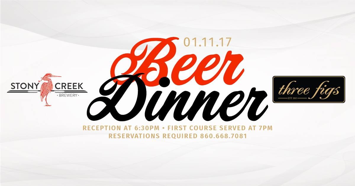 Stony Creek Beer Dinner at Three Figs