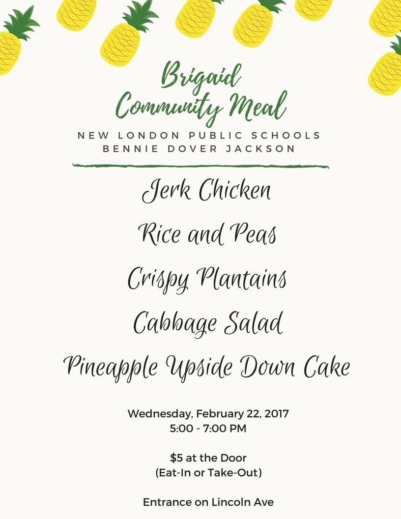 Brigaid Community Dinner New London Public Schools