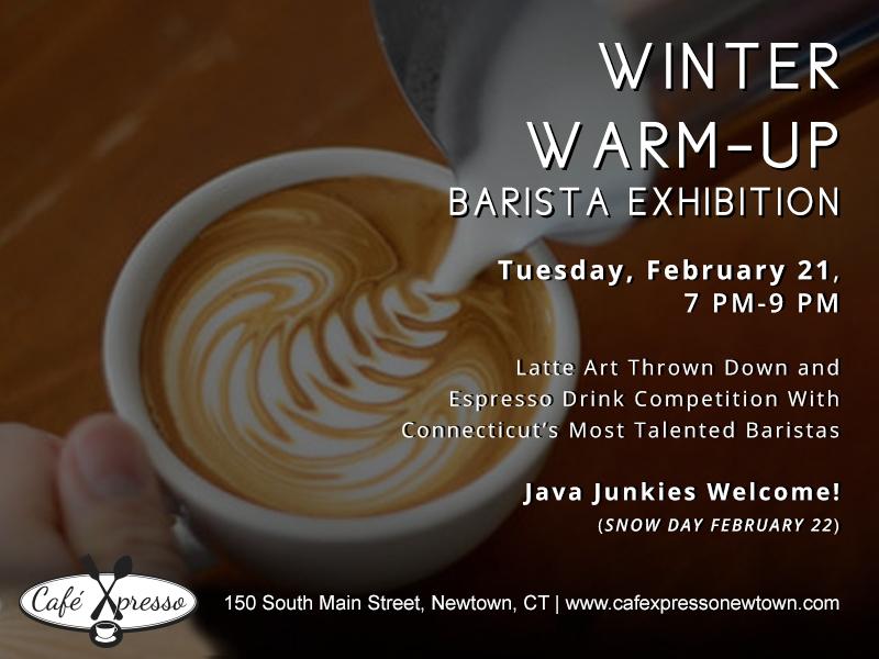 Winter Warm-Up Barista Exhibition Latte Throw Down Espresso Drink Competition