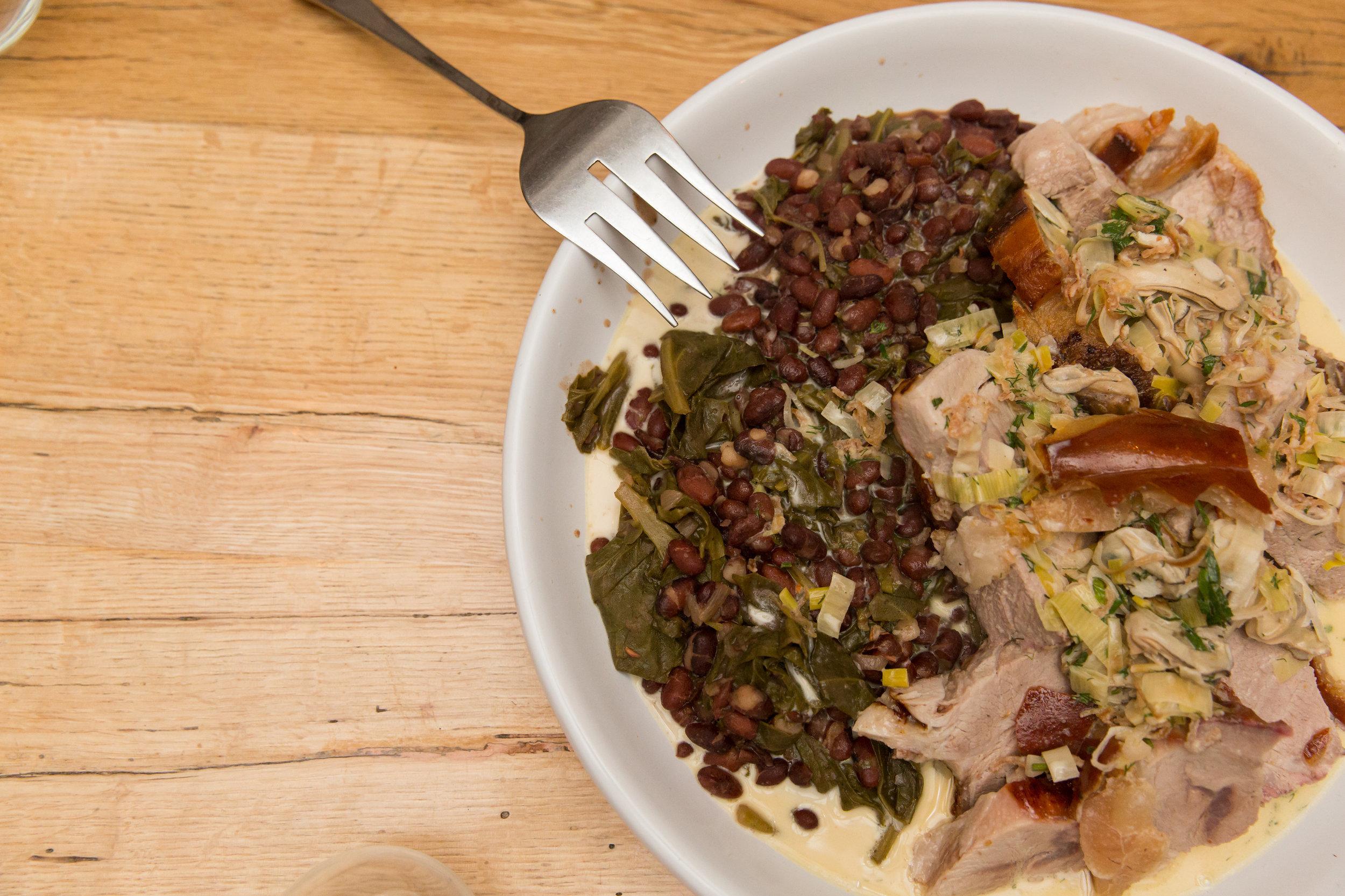 Braised Pork And Greens From The Whelk Westport