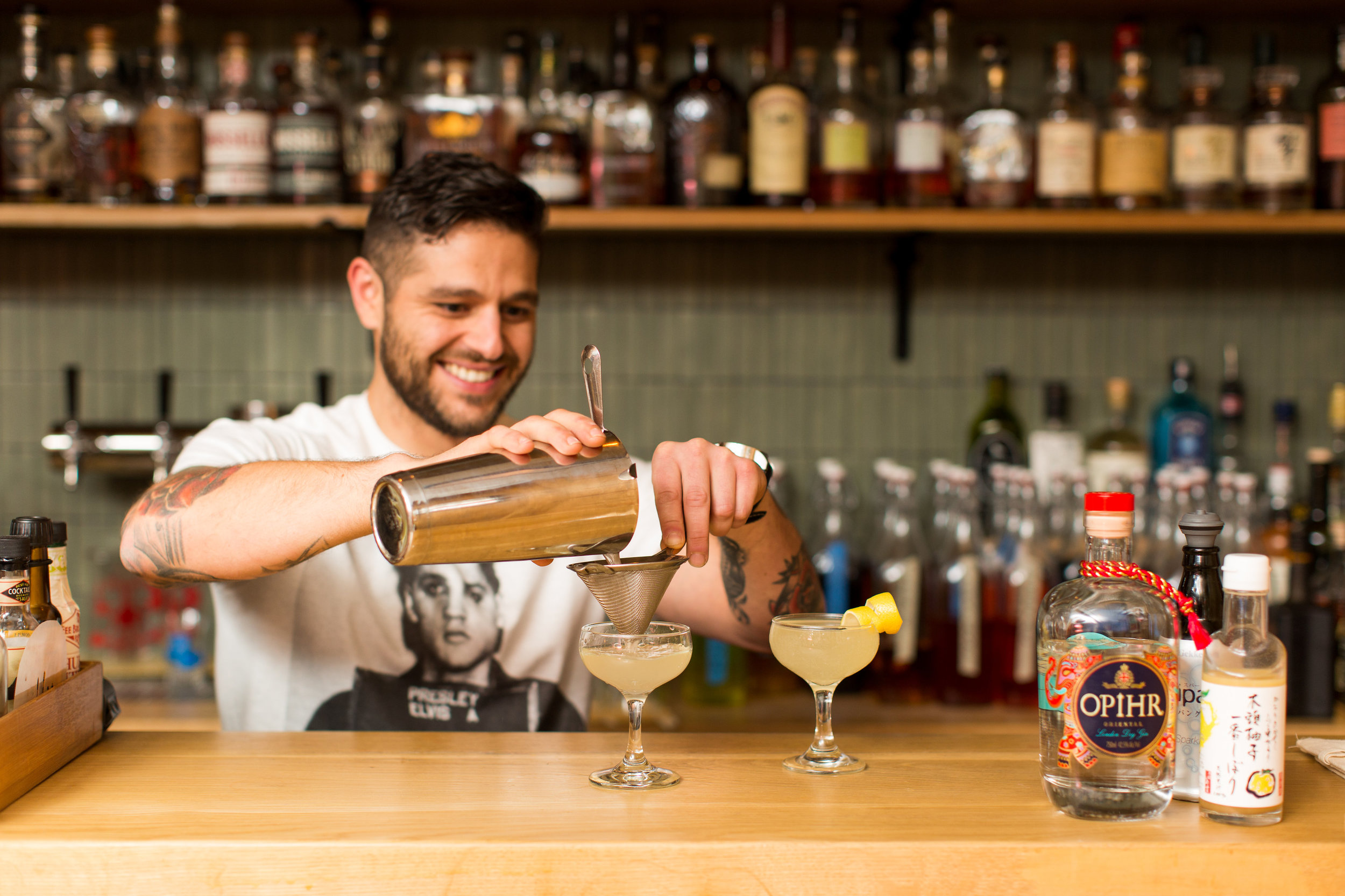 Bar Manager Craig Ventrice Pouring A Tokyo 75