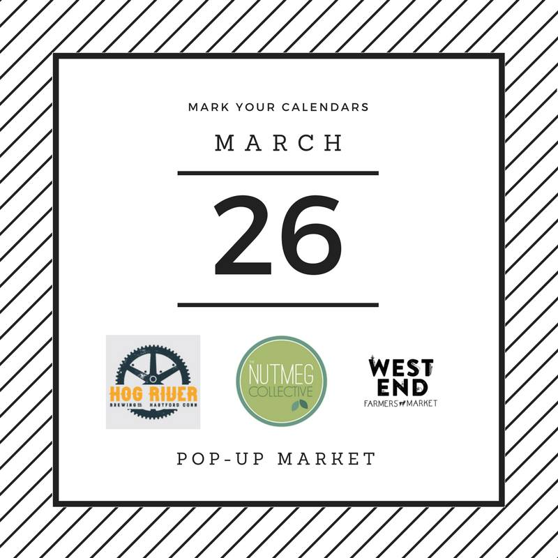 Maker Pop-Up with Nutmeg Collective at Hog River Brewing for the West End Farmers Marker