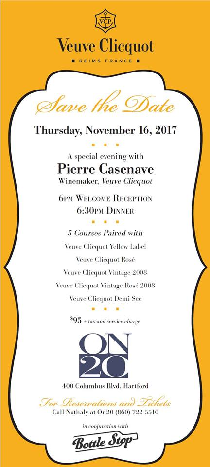 veuve clicquot dinner at on20