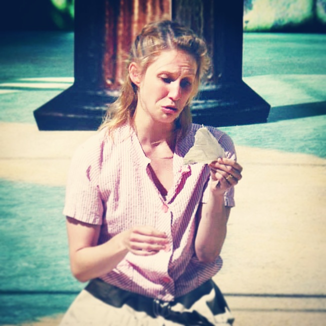 Allison as Julia in rehearsal for The Two Gentlemen of Verona at The Old Globe