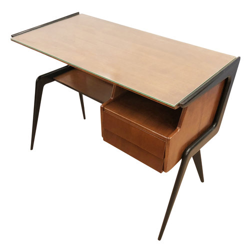 Italian Mid Century Desk In The Manner Of Silvio Cavatorta Gaspare Asaro Modern Furniture And Lighting New York Ny