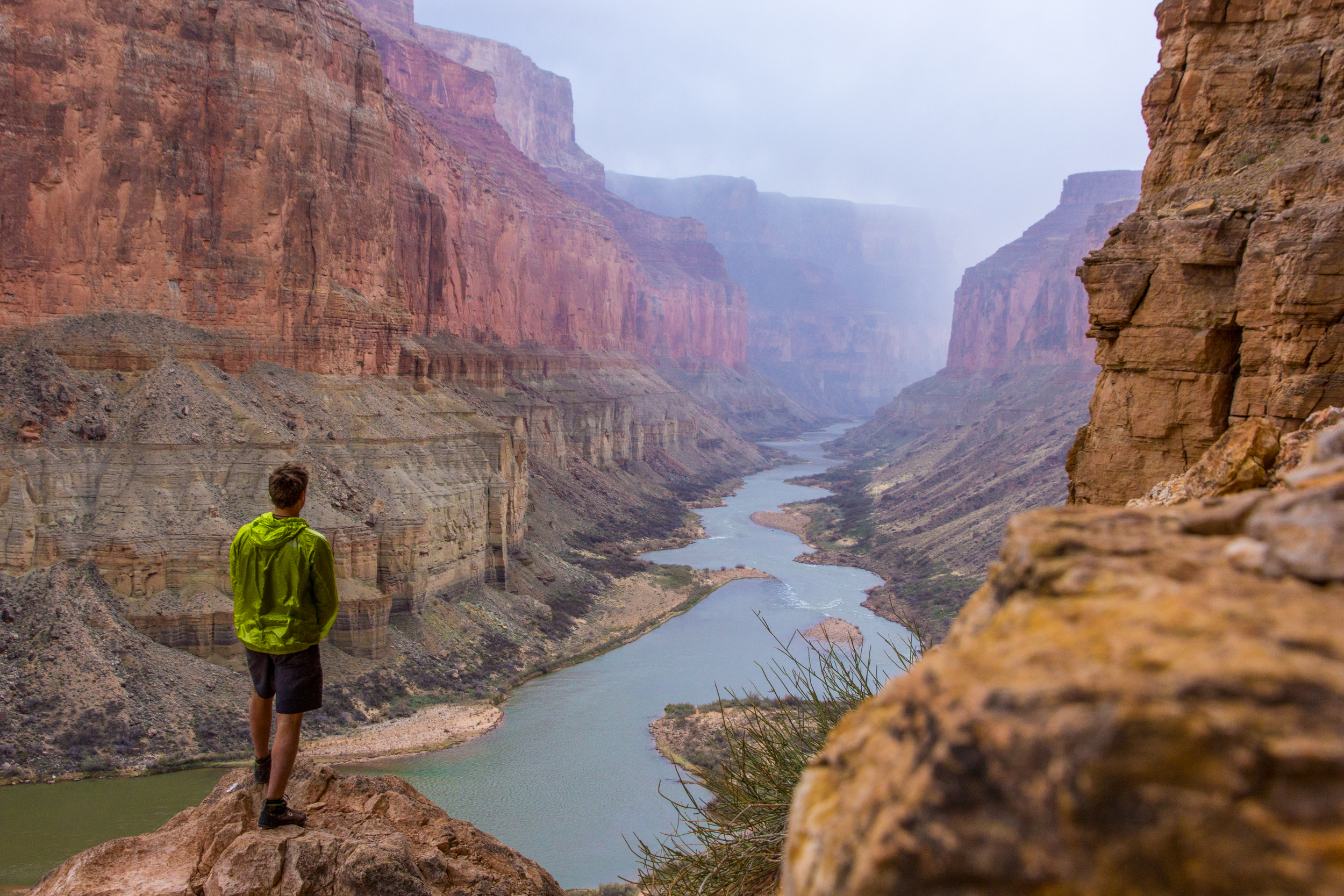John Nestler looking downstream from Nankoweap on his solo journey. Grand Canyon, AZ