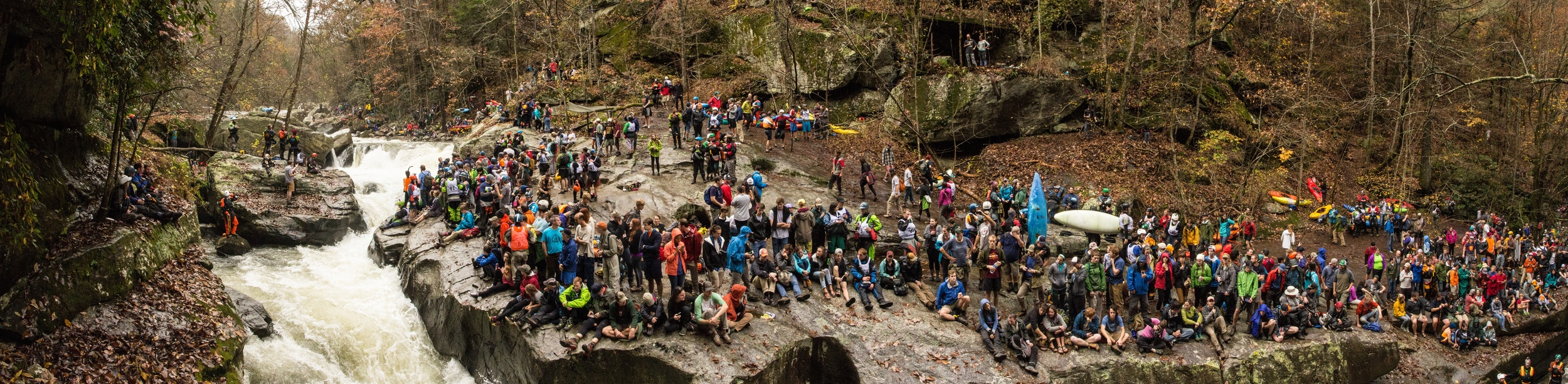 The crowded amphitheater that is Gorilla, at the annual Green Race.