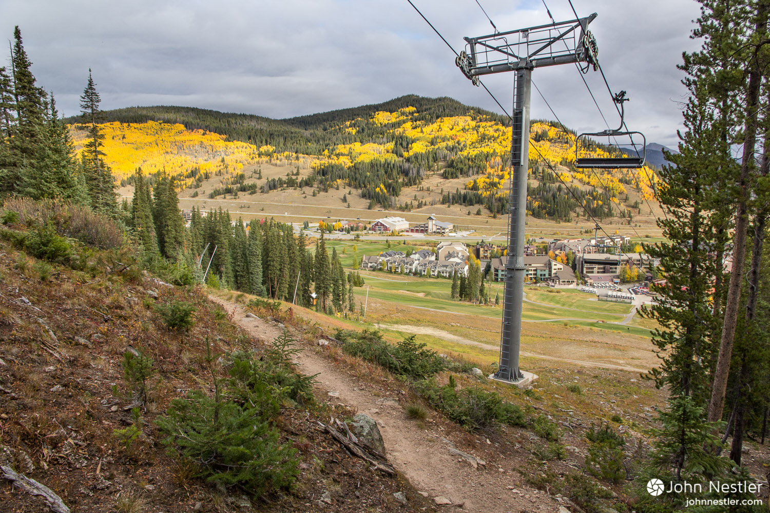 A view from the Colorado Trail as it crosses directly across the ski slopes at  Copper Mountain  in Segment 8. Keep that in mind next time you're there skiing in the winter!