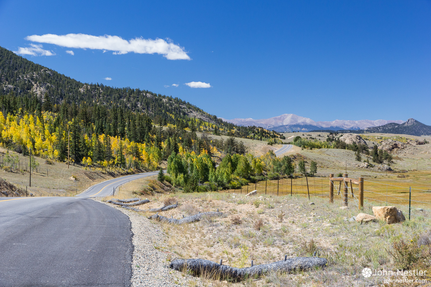 Somewhere past the town of  Tarryall, CO  during the Lost Creek Wilderness detour. Miles flew by on the paved roads and gorgeous views like this kept me going.
