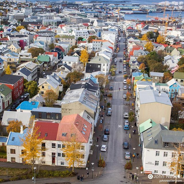 I'll be in Iceland for the next two weeks, and decided to revive this Instagram by posting a picture from each day. Enjoy!  Day 1: Reykjavik  Here's a view from the top of Hallgrímskirkja Church looking towards the water. It's said that the colorful houses serve to get people through the dark winters since the northern latitude of 64° ensure lots of darkness. The majority of Iceland lives in Reykjavik since the capital region contains roughly 216,940 people. The total population in Iceland is 334,000 individuals. Just the other day Iceland became the smallest nation to ever qualify for the FIFA World Cup!  #iceland #travel #reykjavik #hallgrimskirkja