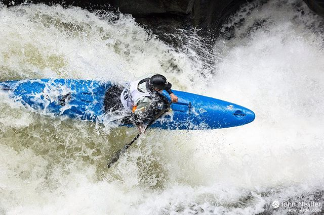 The leaves are changing and Green Race is just around the corner. Few whitewater kayak races are as legendary as the Green Race - there's even a boat named after & specially designed for the race!  Here's a shot of Jordan Poffenberger flying off the pad at Gorilla. I had a blast shooting pictures and spectating at the race last year. Good luck to everyone that decides to race this year!  #gorilla #whitewaterkayaking #thegreatestshowinallofsports #greenrace #2015 #c-1 #adventure #race #longboat #northcarolina #NC #canoeandkayak @canoekayakmag @liquidlogickayaks @jordanpoffenberger