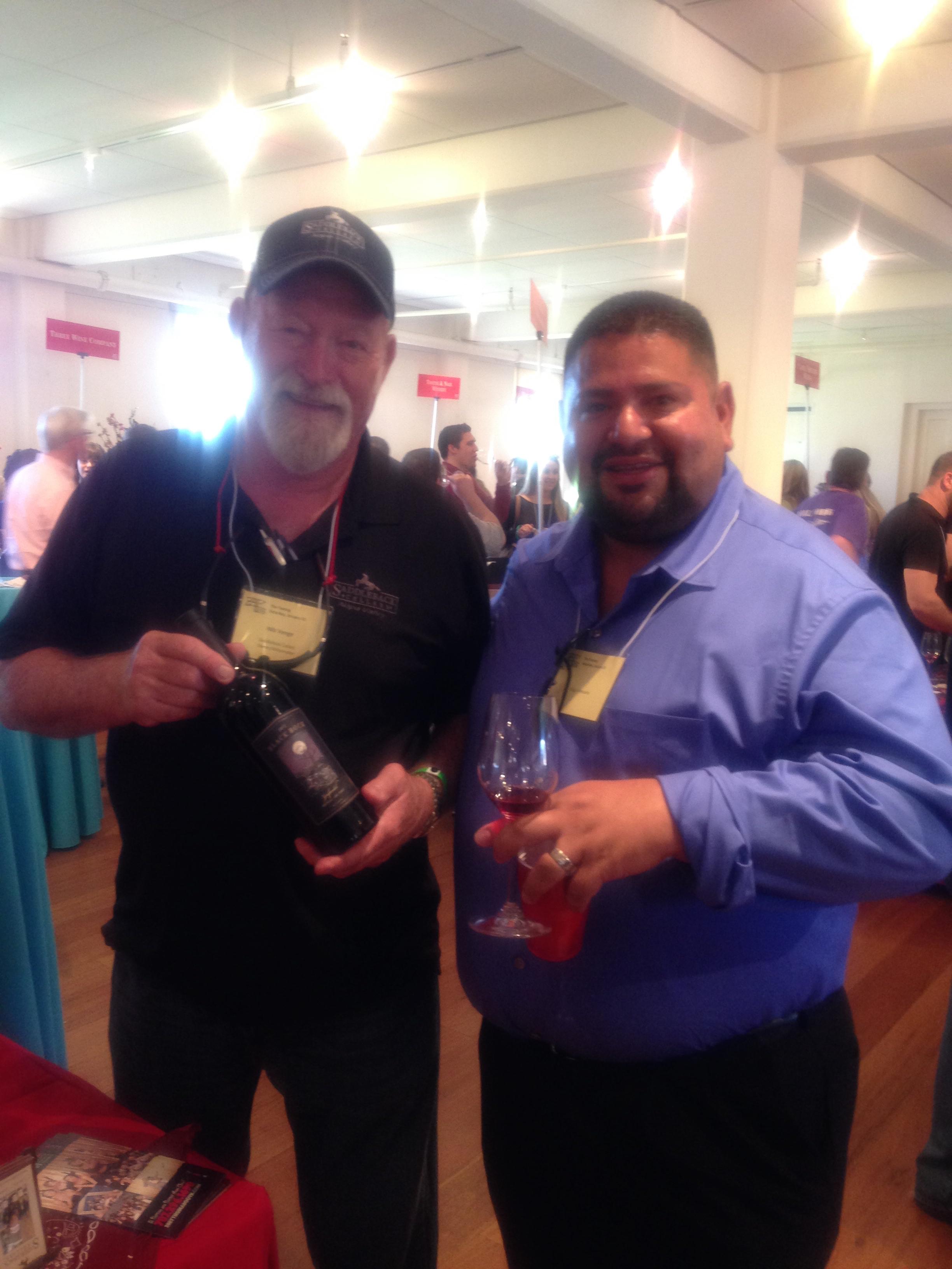 Nils Venge, Winemaker Saddleback Cellars & Daniel Santos