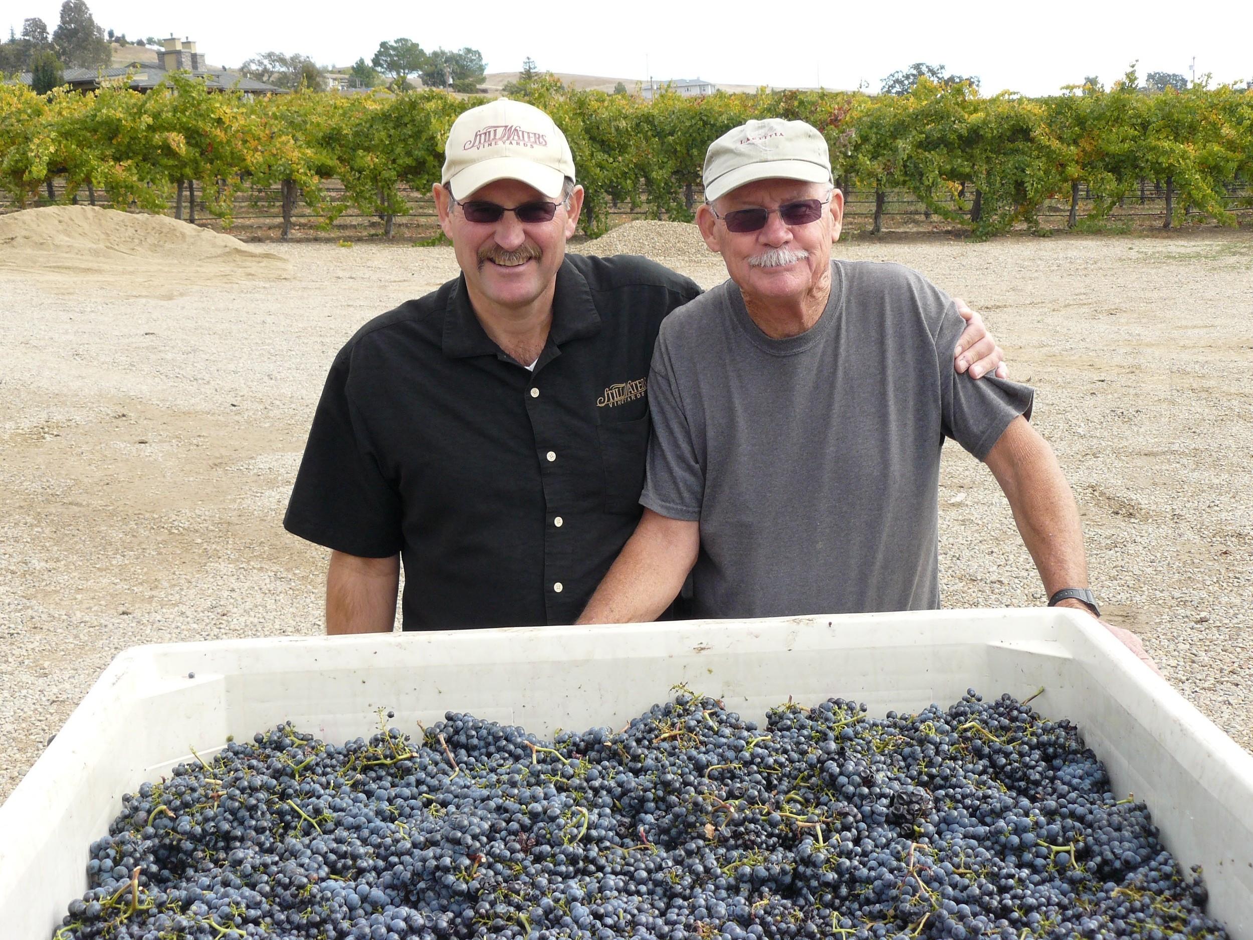 John Thunen with Paul Hoover, owner Stillwater Vineyards