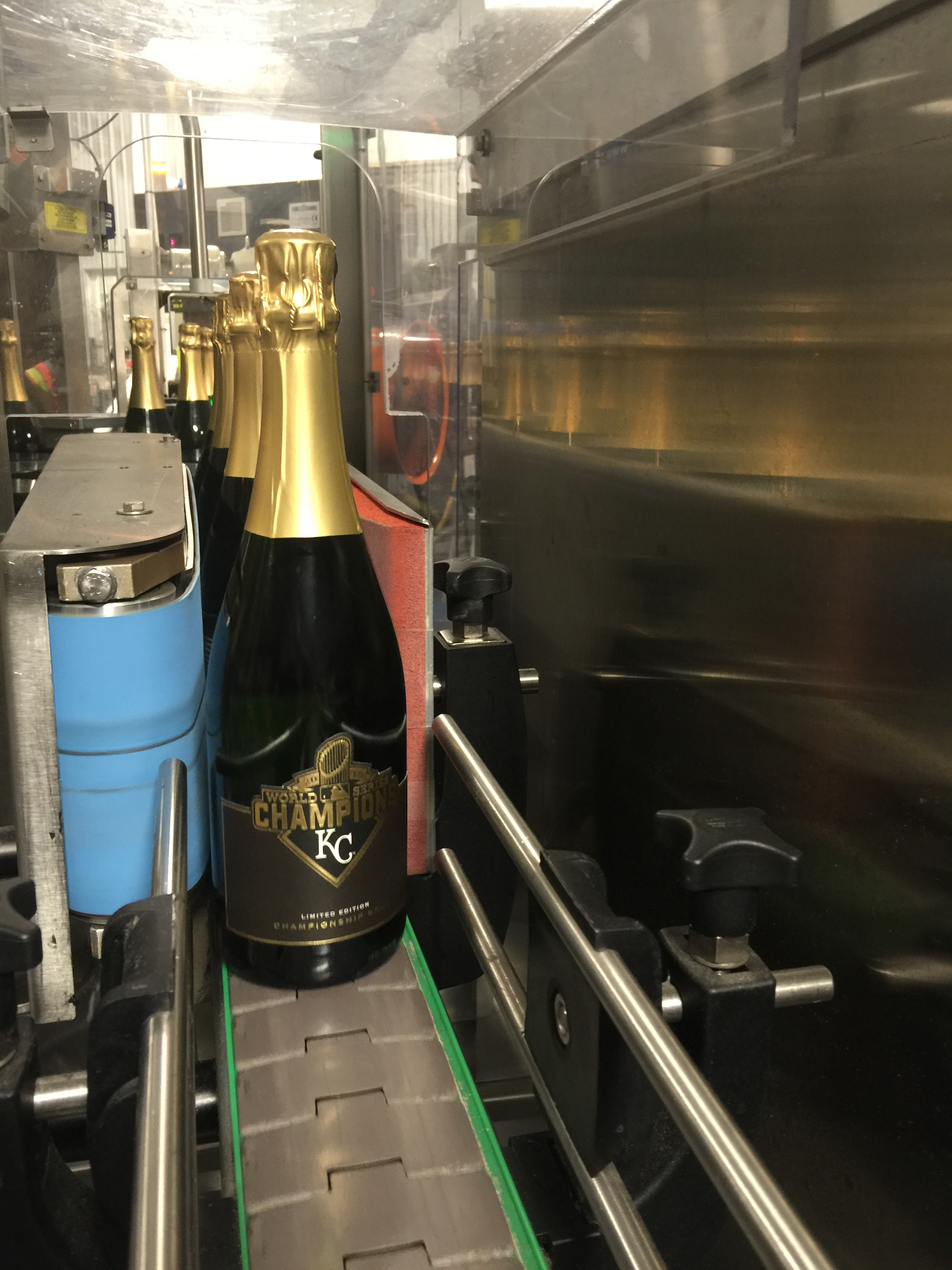 Kansas City Royals™     World Series™    Championship Brut  on the Rack & Riddle production line