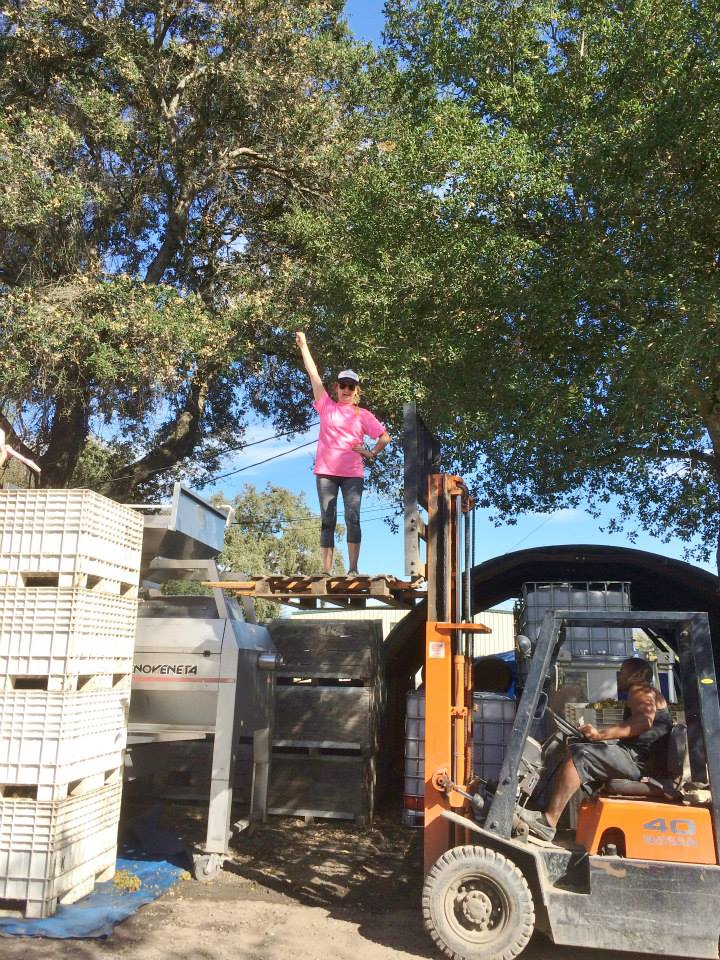Lexine helping with the fork lift.jpg