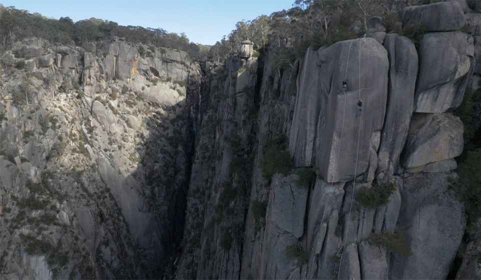 Ascending North Wall, Mt Buffalo, Victoria, Australia